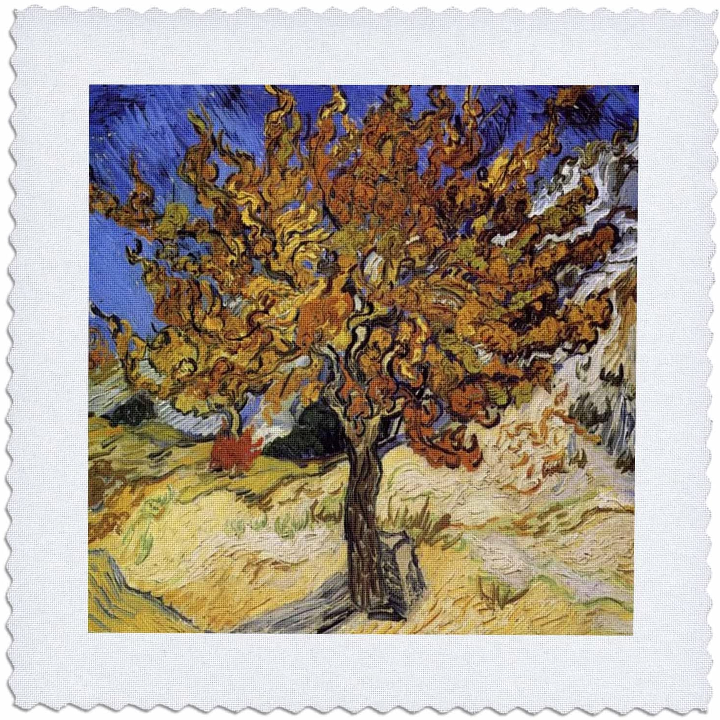 2019 Blended Fabric The Mulberry Tree – Van Gogh Wall Hangings Throughout Amazon: 3drose Van Gogh Mulberry Tree Quilt Square, (View 2 of 20)