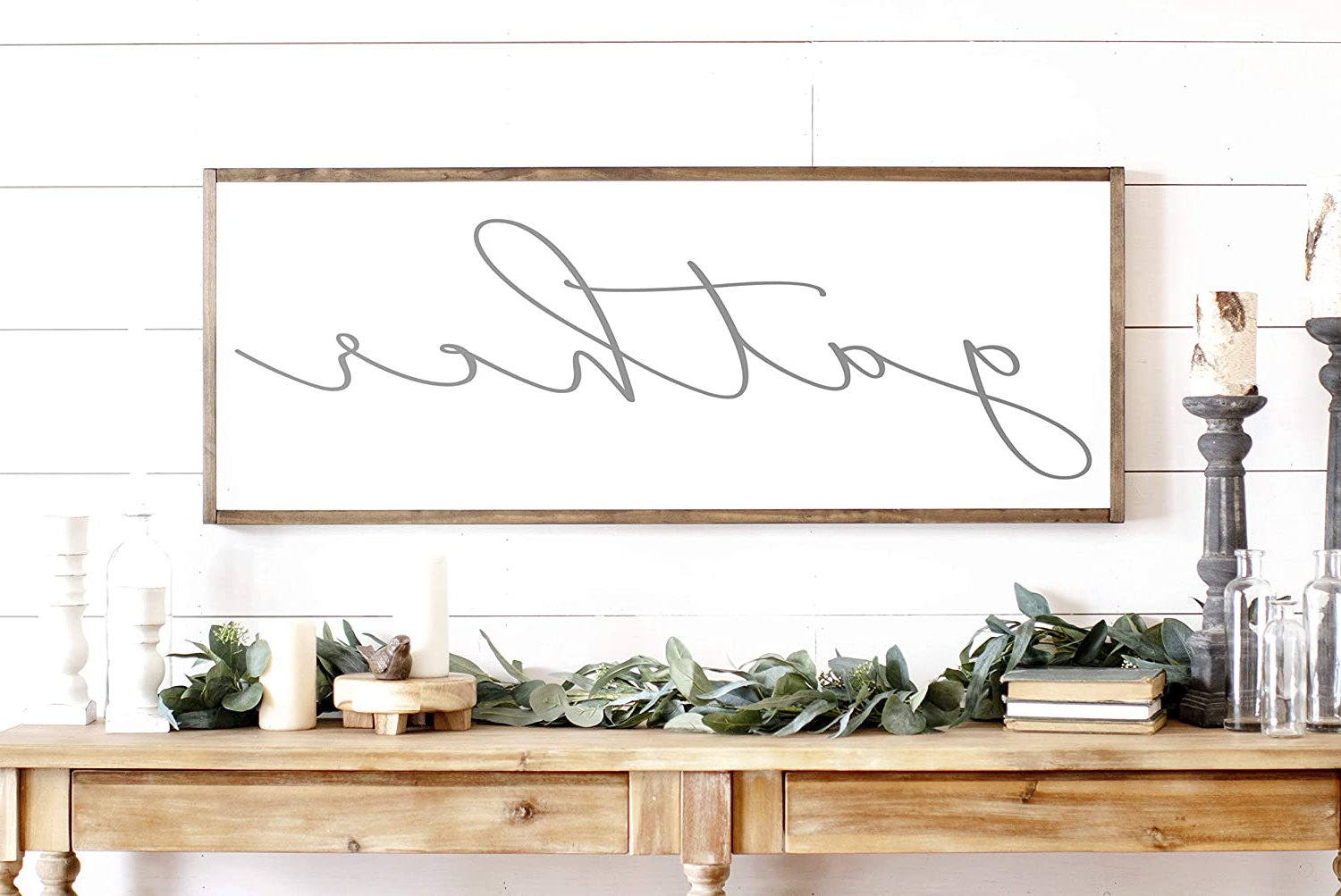 2019 Gather Galvanized Metal Wall Décor Intended For N/ A Gather Sign Gather Wood Sign Home Decor Sign Thanksgiving Signs Large Gather Sign Fall Wall Decor Thanksgiving Decor (View 16 of 20)
