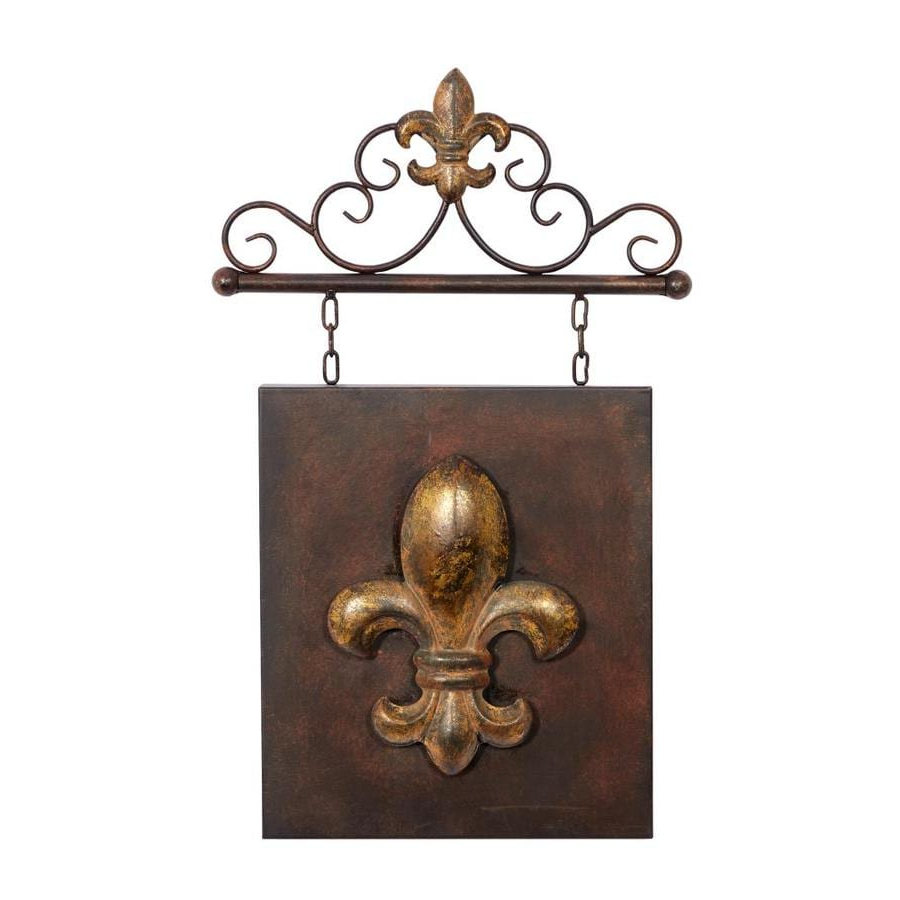 2019 Grayson Lane Metal Sign Decor Traditional Fleur De Lis Metal Intended For Traditional Metal Wall Plaque (View 2 of 20)