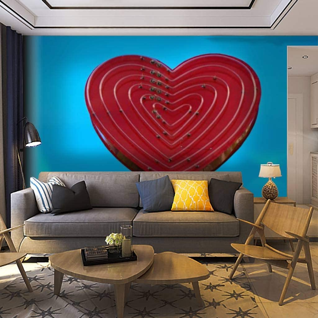 """2019 Heart Shaped """"home"""" Sign Wall Décor Pertaining To Amazon: Wallpaper Wall Mural Heart Shaped Sign Kansas (View 10 of 20)"""