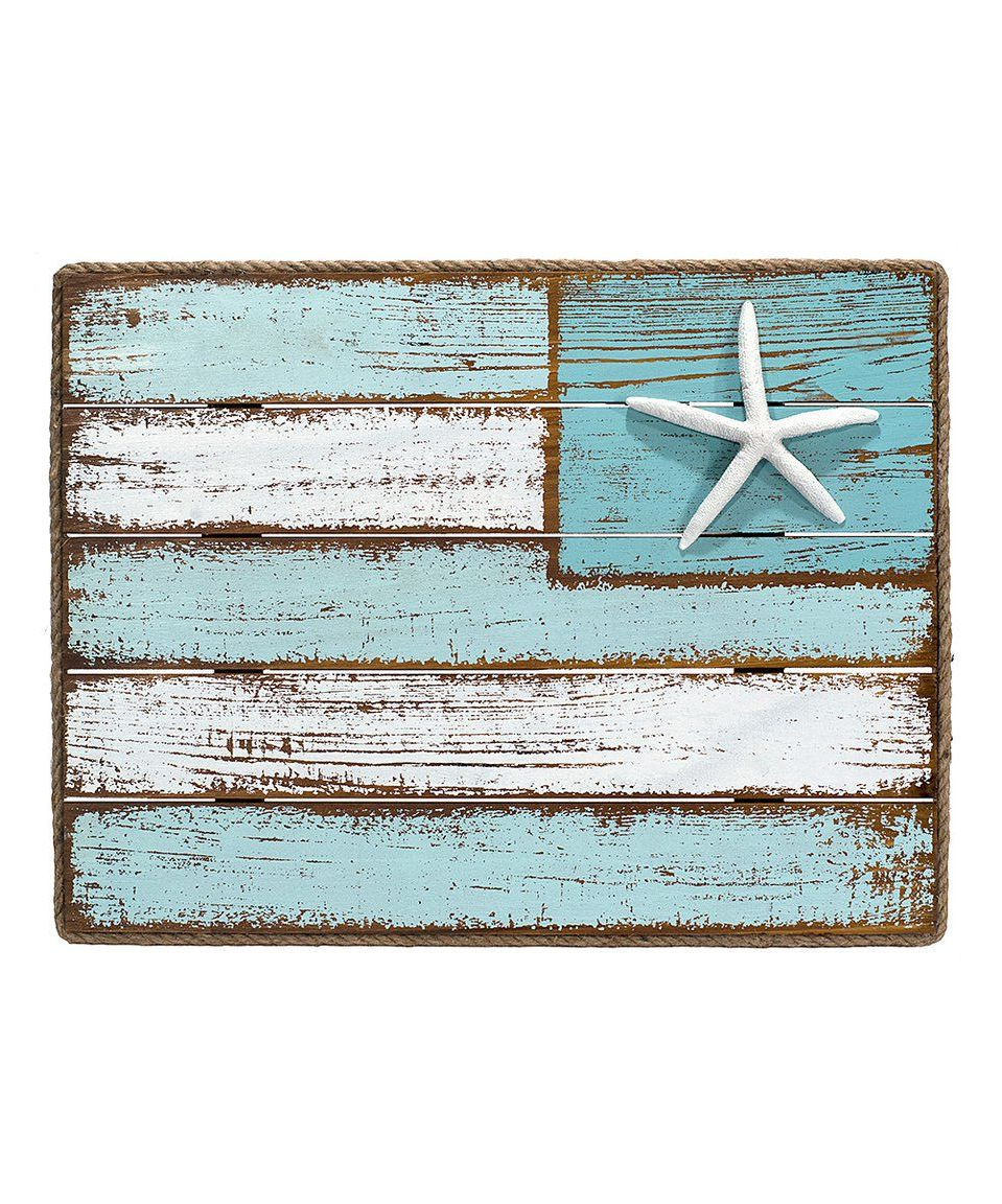 2019 Look What I Found On #zulily! Three Piece Coastal Flag Wall Intended For Coastal Flag Sign With Rope Wall Décor (View 3 of 20)