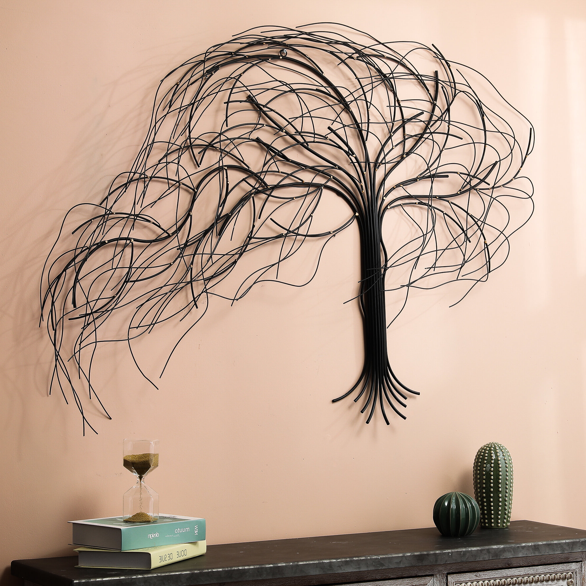 2019 Metal Windy Tree Wall Décor For Abstract Tree Wall Décor By Winston Porter (View 17 of 20)