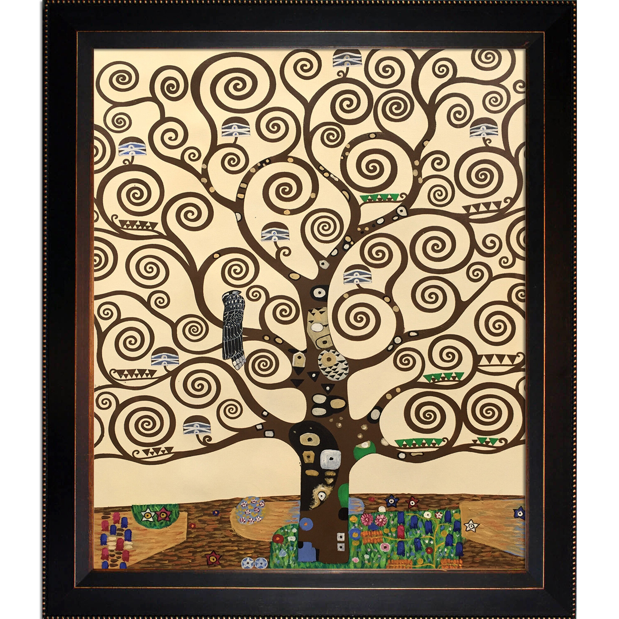 2019 Tree Of Lifegustav Klimt – Wrapped Canvas Painting Print Inside Blended Fabric Klimt Tree Of Life Wall Hangings (View 9 of 20)