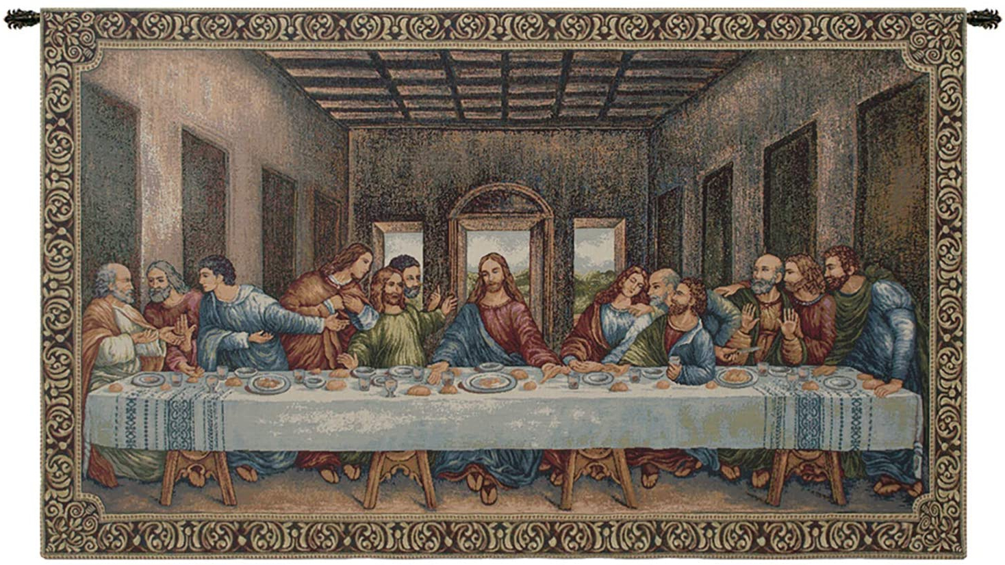 2020 Blended Fabric Leonardo Davinci The Last Supper Wall Hangings With Regard To Amazon: Charlotte Home Furnishings Inc (View 2 of 20)