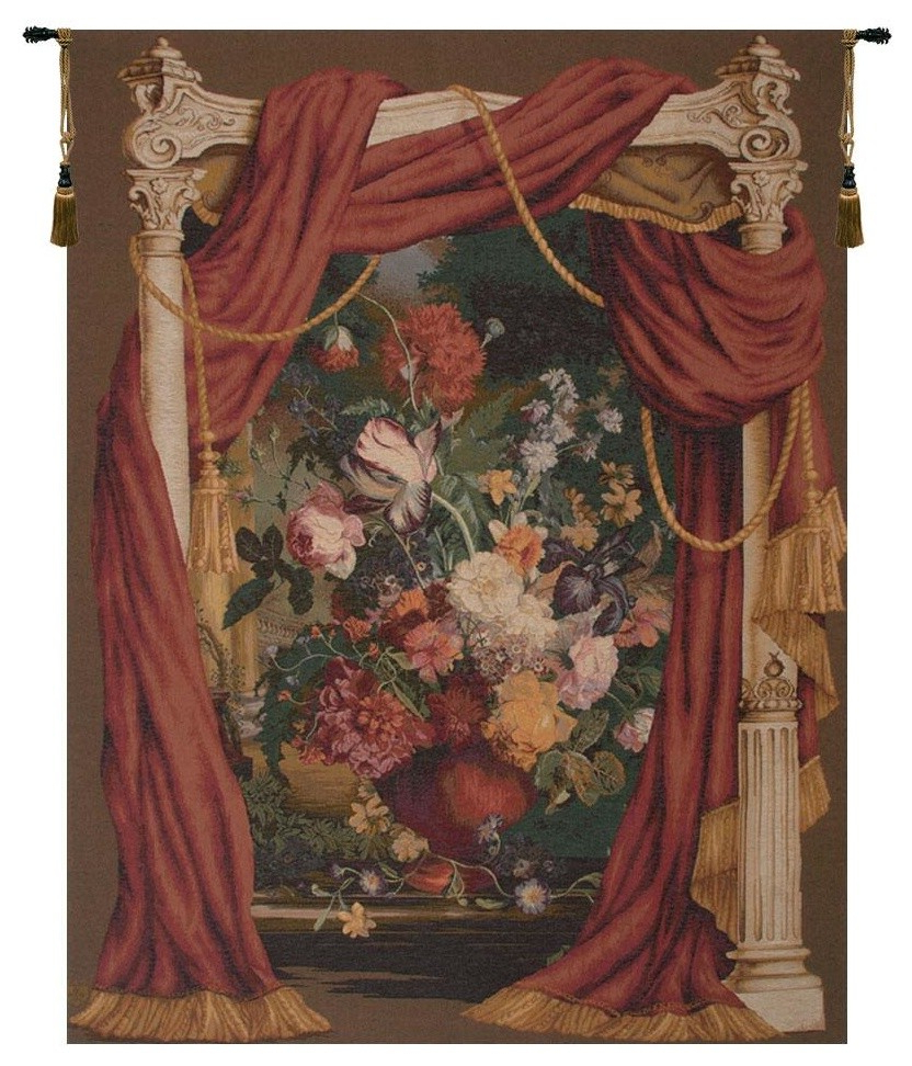 2020 Bouquet Theatral European Tapestry Wall Hanging, B – H 58 X W 42 Intended For Grandes Armoiries I European Tapestries (View 12 of 20)