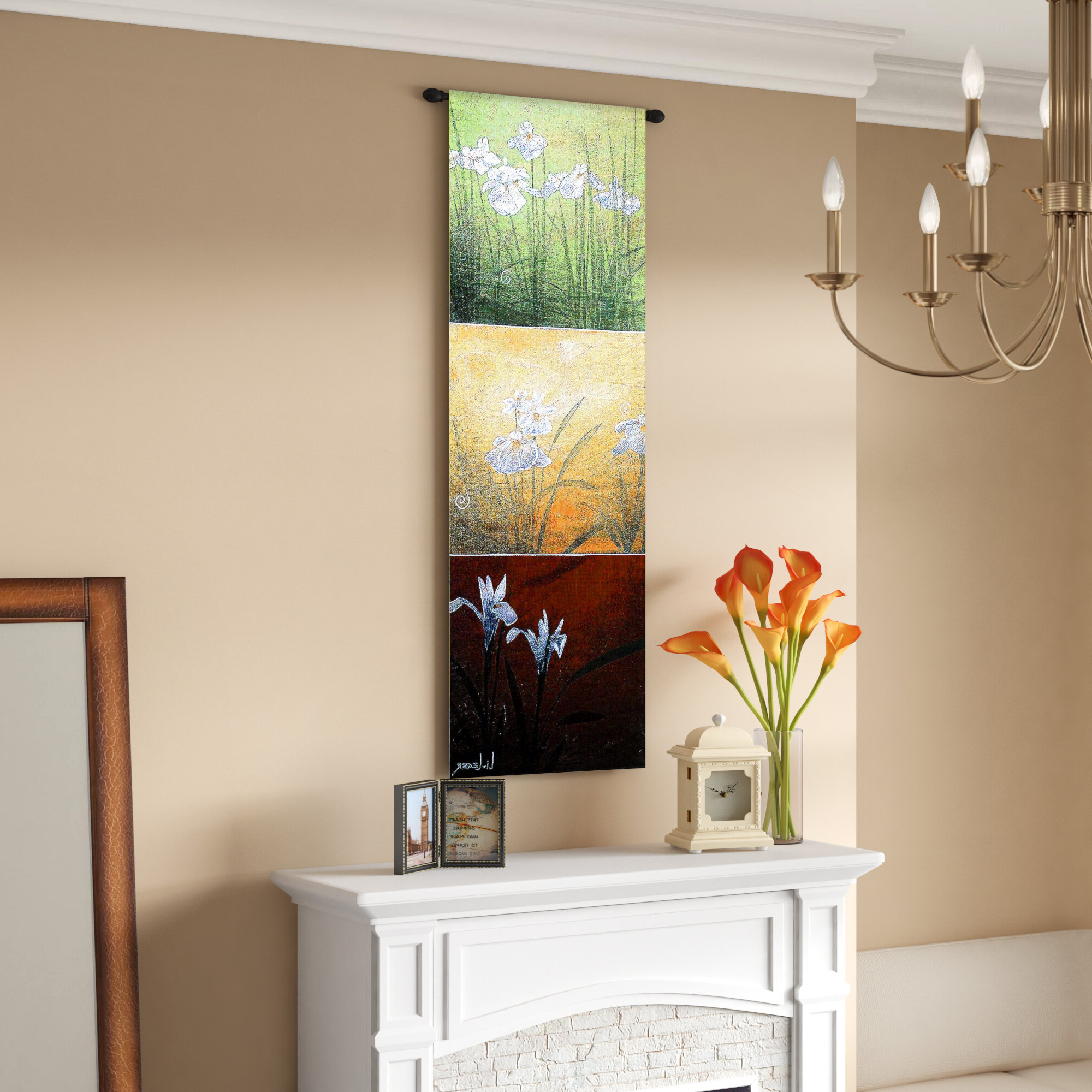2020 Karmadon Li Leger Tapestry With Regard To Blended Fabric Hidden Garden Chinoiserie Wall Hangings With Rod (Gallery 14 of 20)