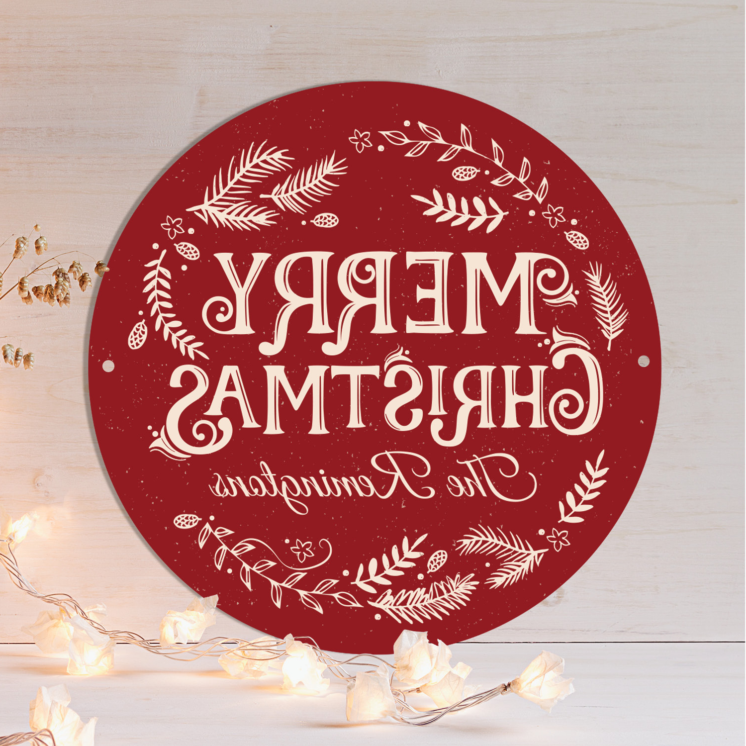 2020 Merry Christmas Personalized Tin Sign – (View 20 of 20)
