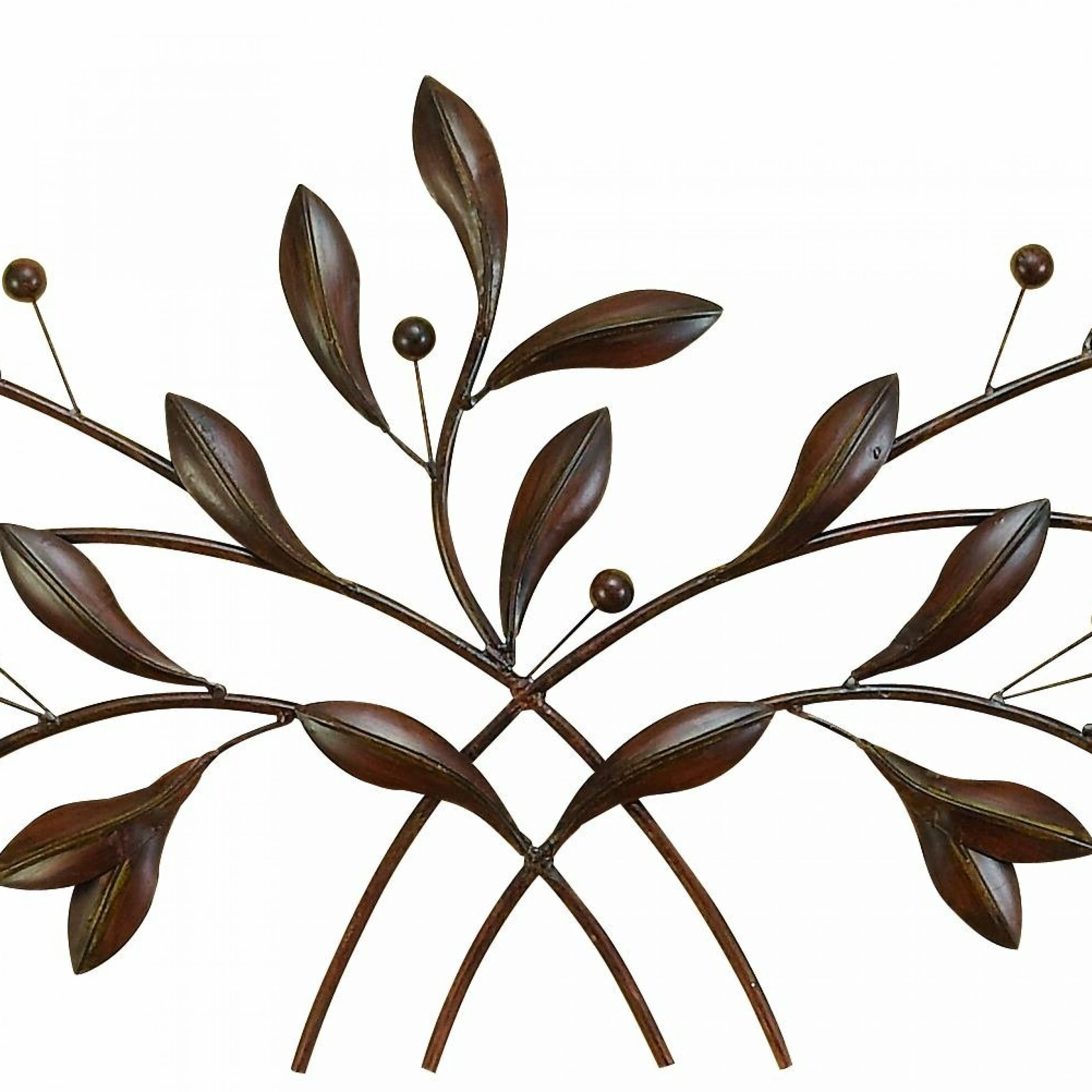 2020 Metal Leaf With Berries Wall Decor With Regard To Metal Leaf With Berries Wall Décor (View 2 of 20)