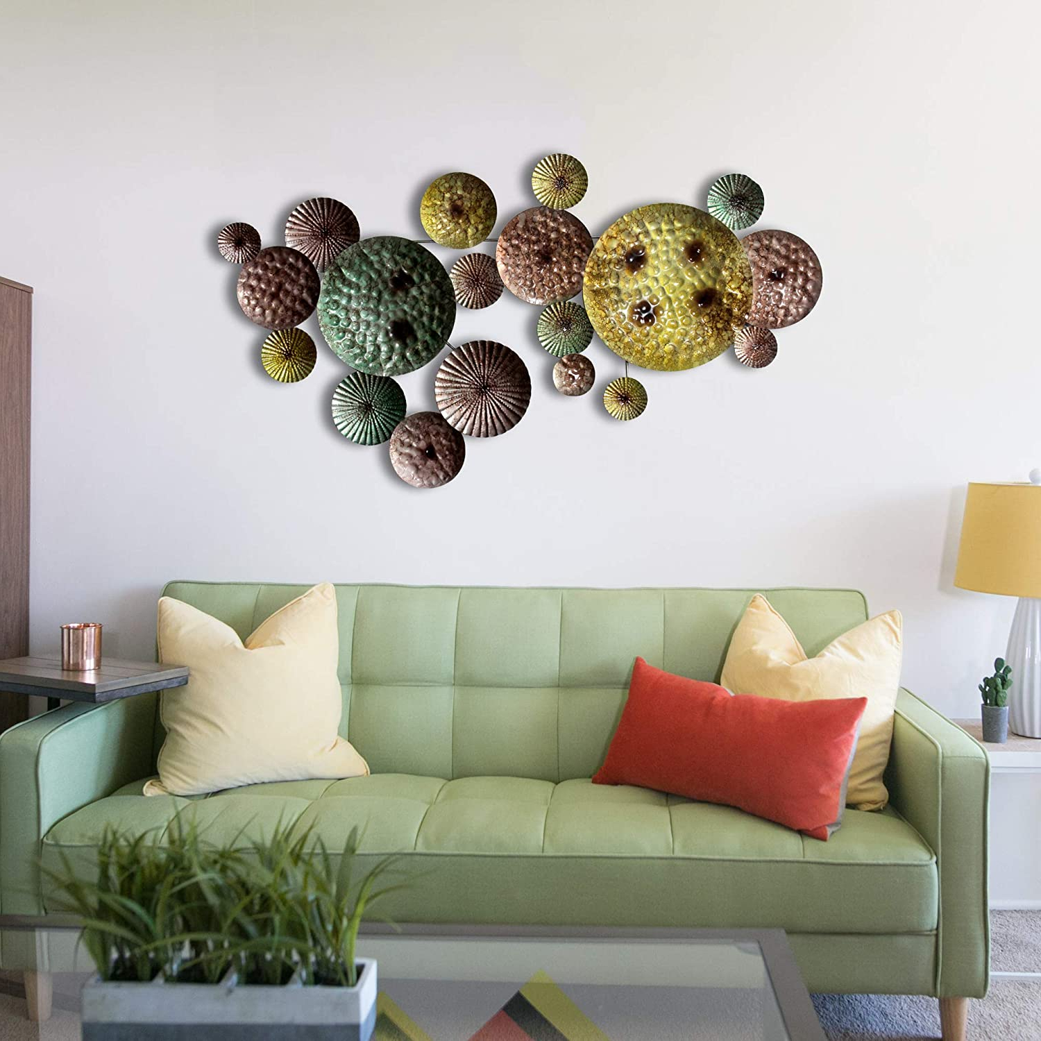 2020 Multi Circles Wall Décor With Craftter Metal Art Sculpture Wall Hanging (multi Color, Lenth 2 Inch X Width – 45 Inch X Height – 22 Inch) (View 12 of 20)