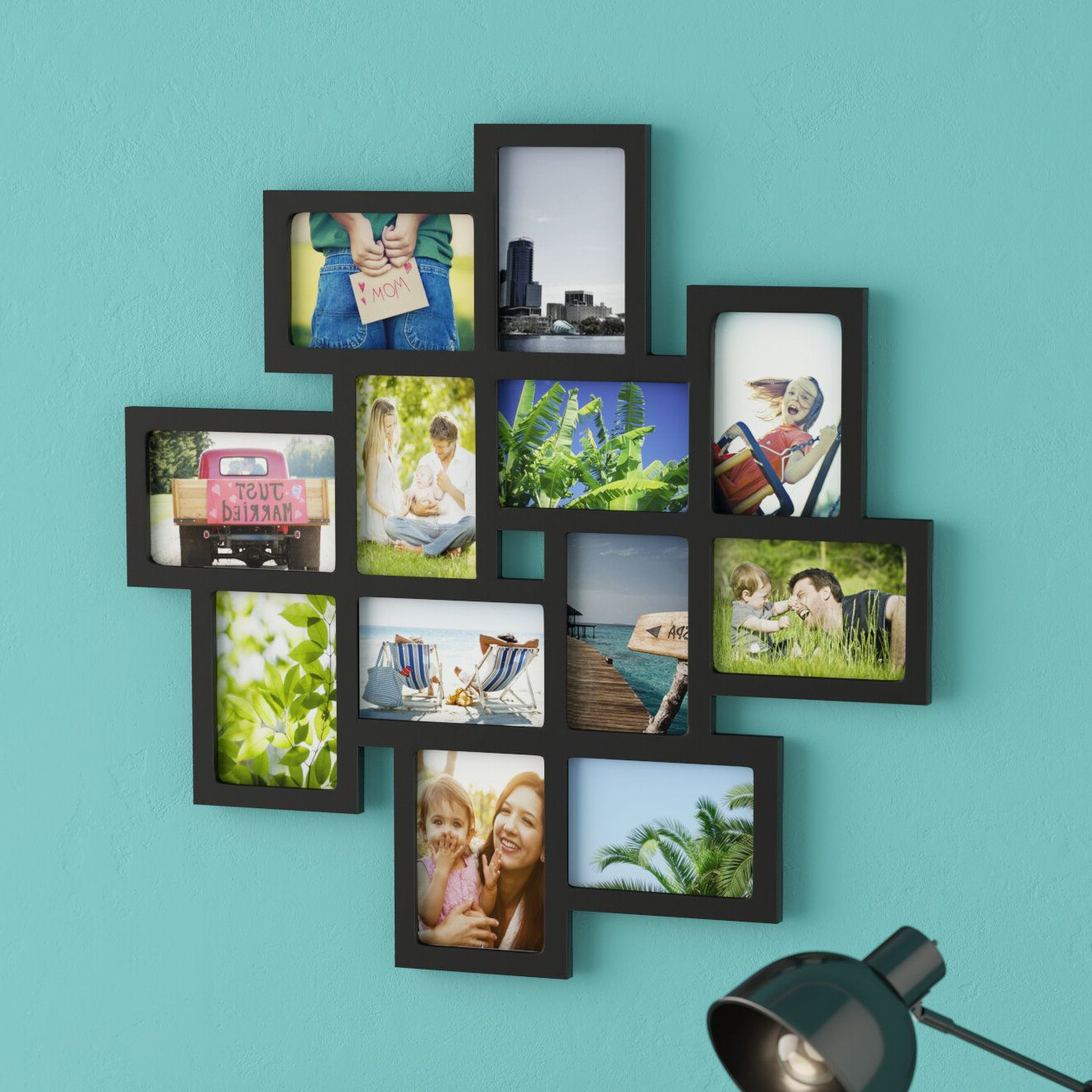 2020 Photo Collage Frames On Wall 49 Latitude Run 12 Opening Inside Wall Décor By Latitude Run (View 20 of 20)