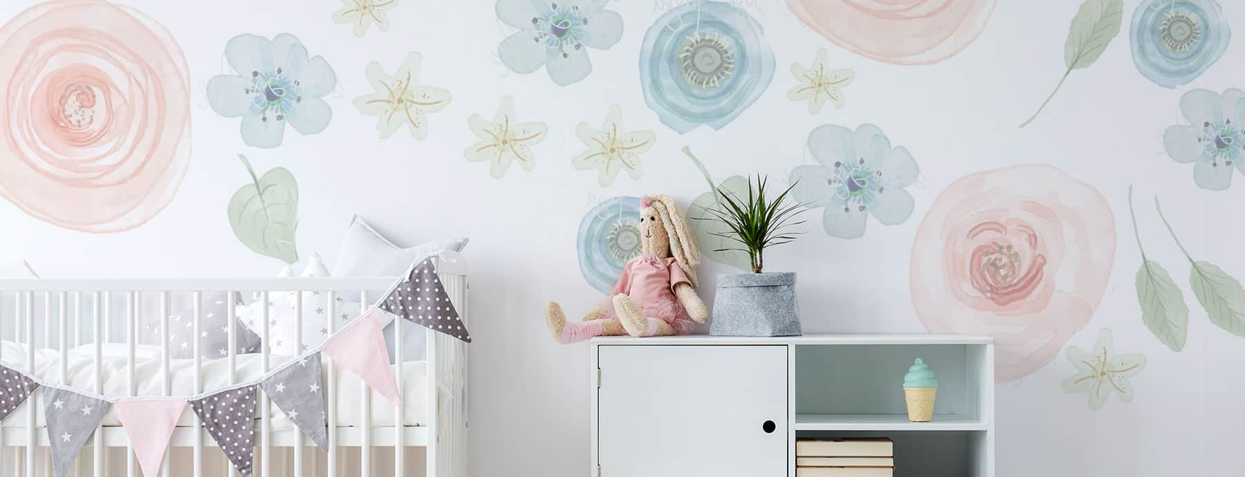 2020 Whimsical Flower Wall Décor Regarding 34 Of The Most Beautiful Flower Wall Decals For Your Kid's (View 19 of 20)