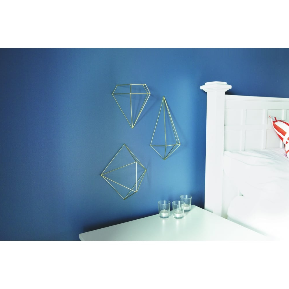 3 Piece Prisma Wall Décor Set With Well Liked Umbra Prisma Wall Decor – Matt Brass (View 11 of 20)