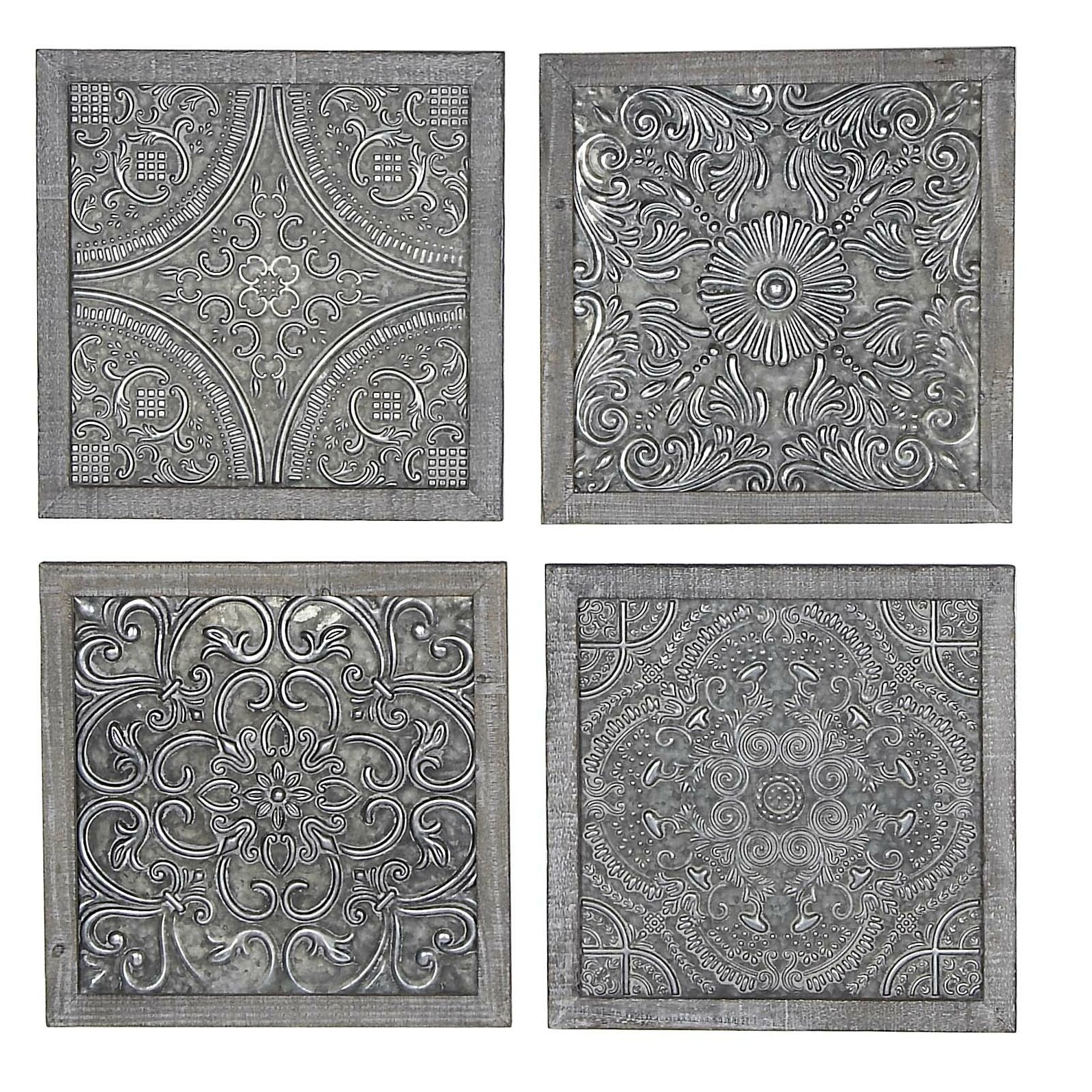 Featured Photo of Melina Metal Medallion Wall Décor (Set Of 4)