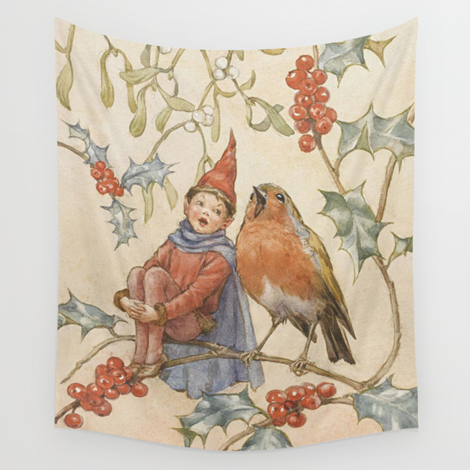 """""""a Christmas Duet""""margaret Tarrant Wall Tapestrypatriciannek Regarding Well Known Birds Face To Face I European Tapestries (View 6 of 20)"""