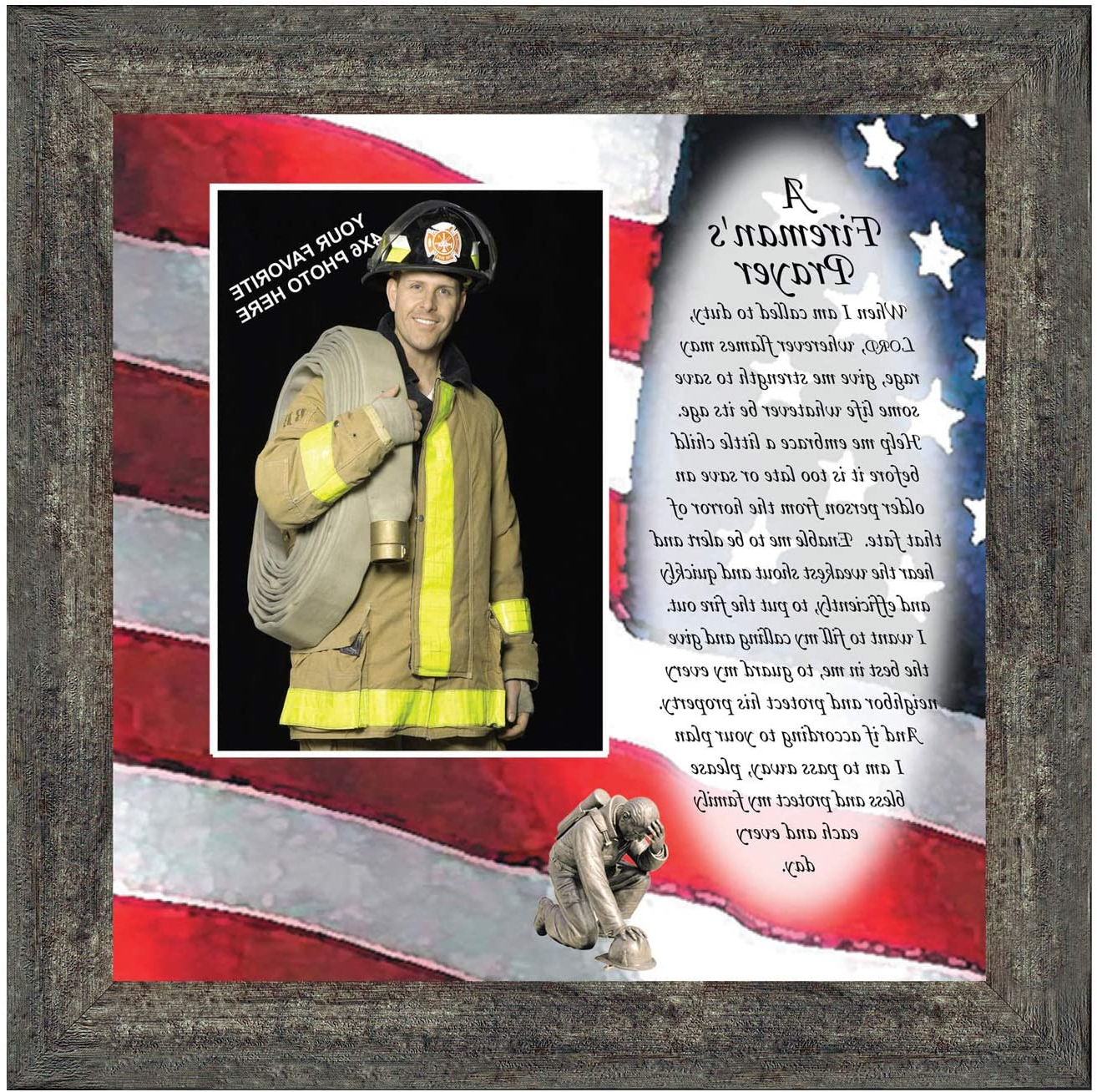 A Fireman Prayer Wall Hangings Pertaining To Fashionable Firefighter Gifts For Men And Women, Fire Academy Graduation Gift, Fire Fighter Gifts Or Firehouse Decor, A Fireman's Prayer Framed Wall Art For Home (View 15 of 20)
