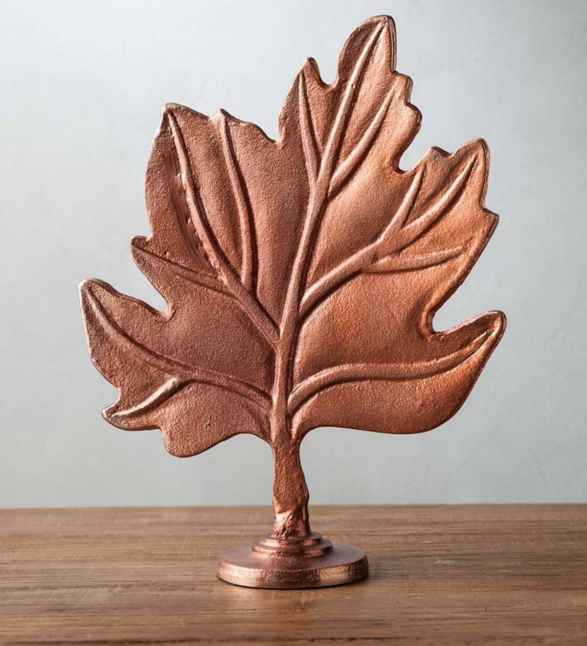 Aluminum Maple Leaf Wall Decor Throughout Widely Used Aluminum Maple Leaf Statue – Copper (View 8 of 20)