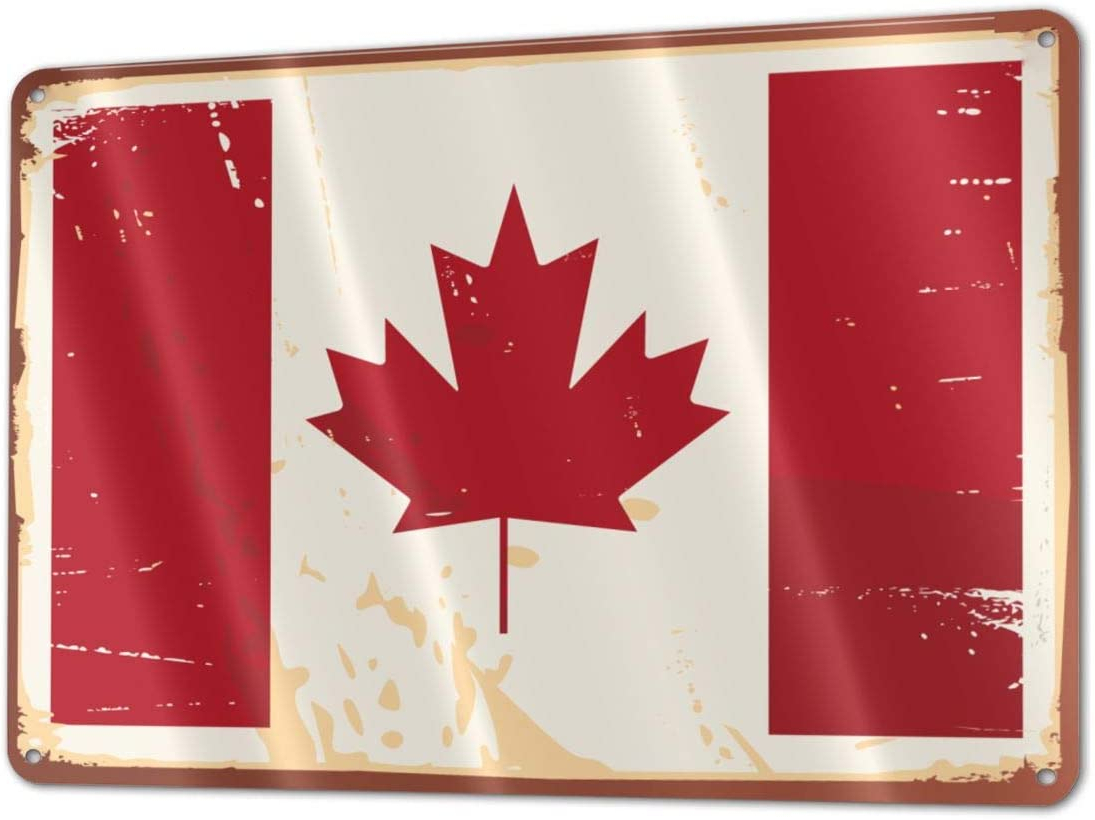 Aluminum Maple Leaf Wall Decor With Regard To Latest Bargburm Flag Of Canada Funny Sign Tin Art Wall Decor, Vintage Aluminum Retro Metal Sign, Iron Painting Vintage Decorative Signs, Coffe Wall (View 11 of 20)