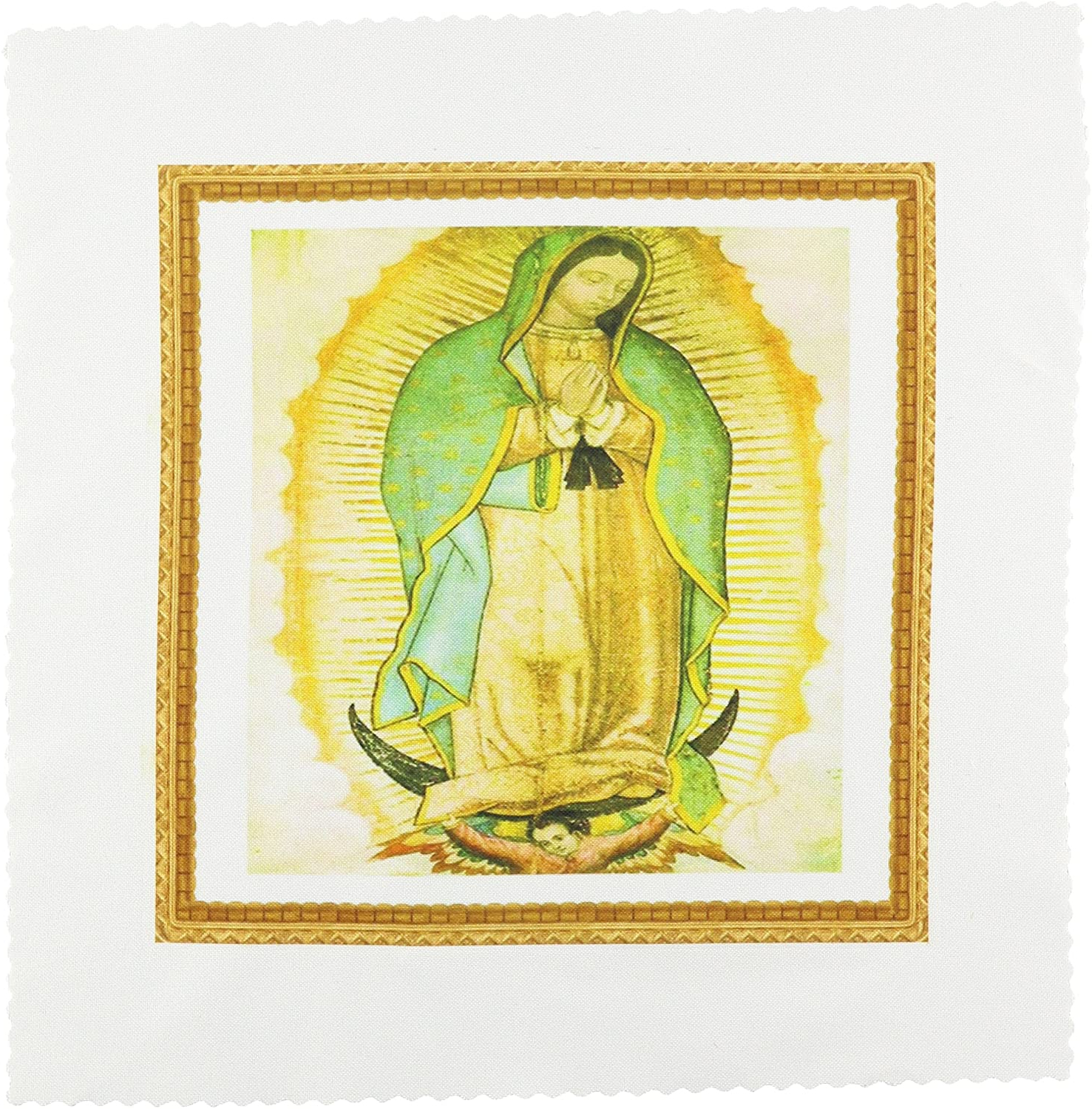 Amazon: 3drose Qs 60684 1 Photo Of Painting Of Our Lady Pertaining To Widely Used Blended Fabric Our Lady Of Guadalupe Wall Hangings (View 16 of 20)