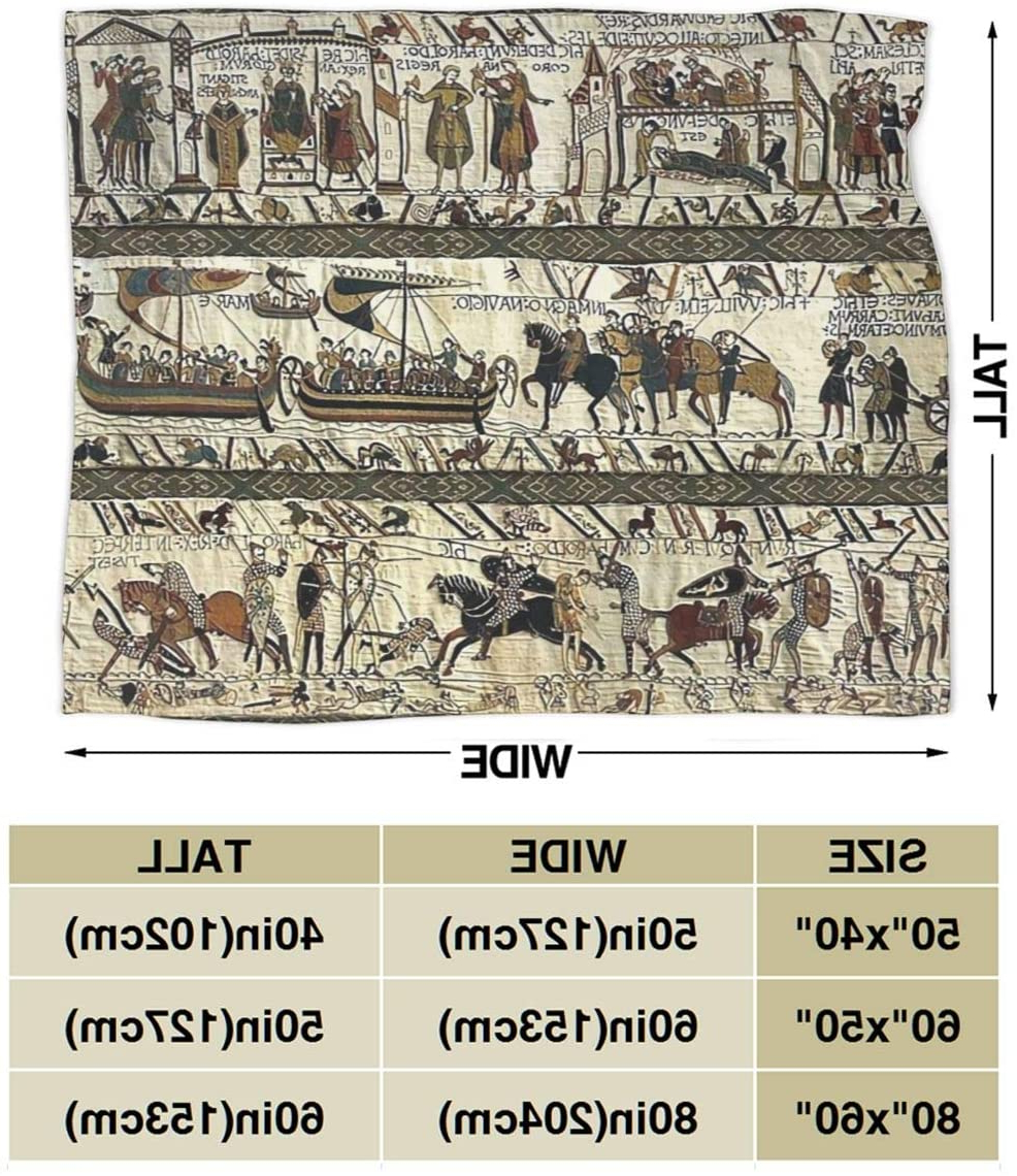 Amazon: Baulerd Bayeux Tapestry Ultra Soft Micro Fleece Within Popular Blended Fabric Bayeux William Troops Wall Hangings (View 17 of 20)
