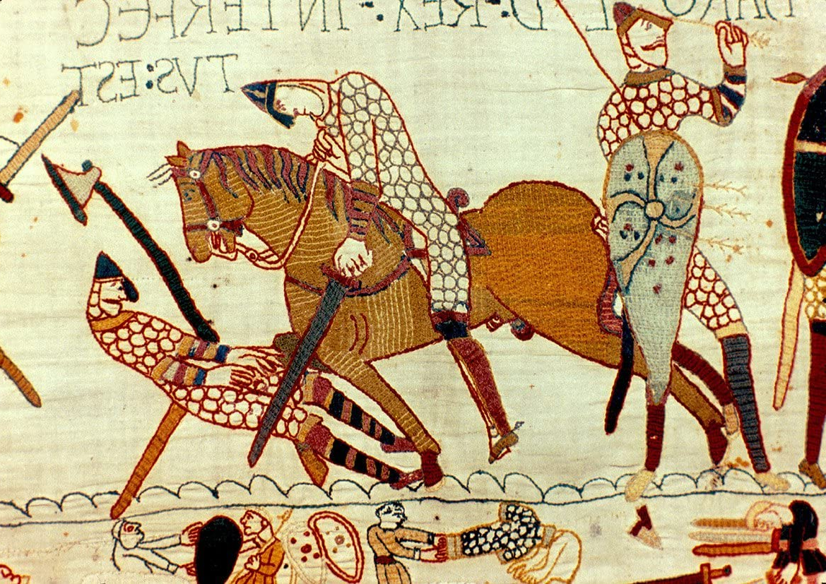 Amazon: Bayeux Tapestry: Battle Of Hastings – The Death Intended For Newest Blended Fabric Bayeux William Troops Wall Hangings (View 5 of 20)