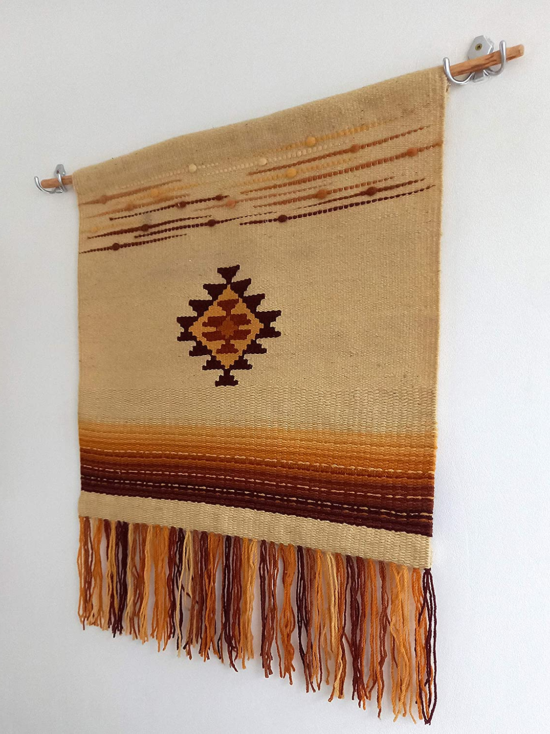 Amazon: Hand Woven Wall Hanging, Boho Handmade Wall Intended For Well Liked Hand Woven Wall Hangings (View 16 of 20)