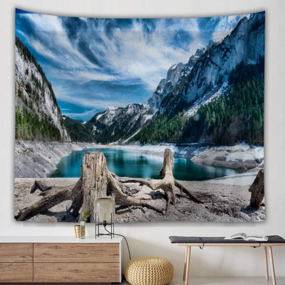 Amazon: Krwhts Home Wall Hanging Nature Art Polyester For Latest Blended Fabric Lago Di Como Ii Wall Hangings (View 3 of 20)