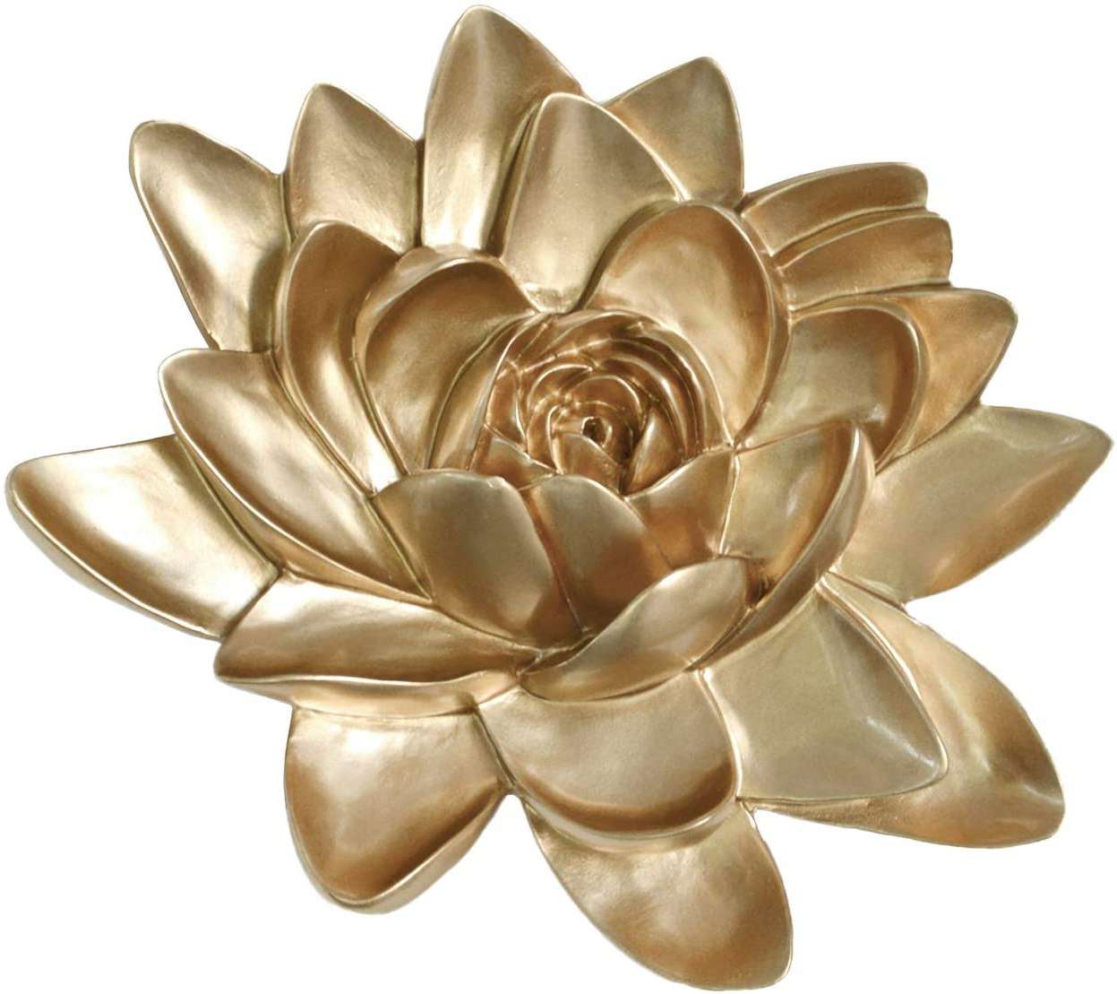 Amazon: Mladen Flower Wall Decor 3d Resin Lotus Wall Within Well Known Whimsical Flower Wall Décor (View 11 of 20)