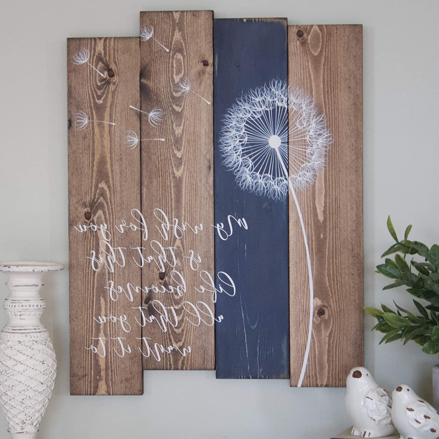 Amazon: My Wish For You Lyrics Wall Decor, Rustic Home Intended For Most Popular Ceramic Rustic Wall Décor (View 9 of 20)