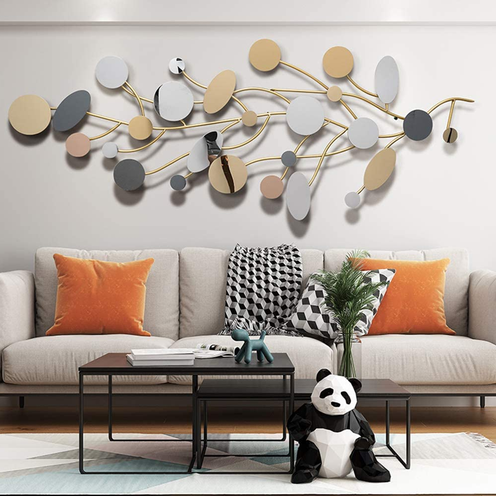 Amazon: Sfxyj Metal Sculpture Wall Art – Creative Nordic Throughout Trendy Family Themed Creative Metal Wall Décor (View 6 of 20)