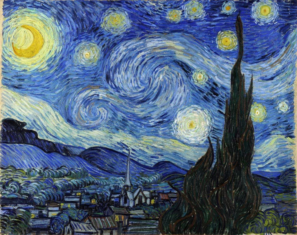 Amazon: The Museum Outlet – Van Gogh – Starry Night In Recent Blended Fabric Van Gogh Starry Night Over The Rhone Wall Hangings (View 15 of 20)