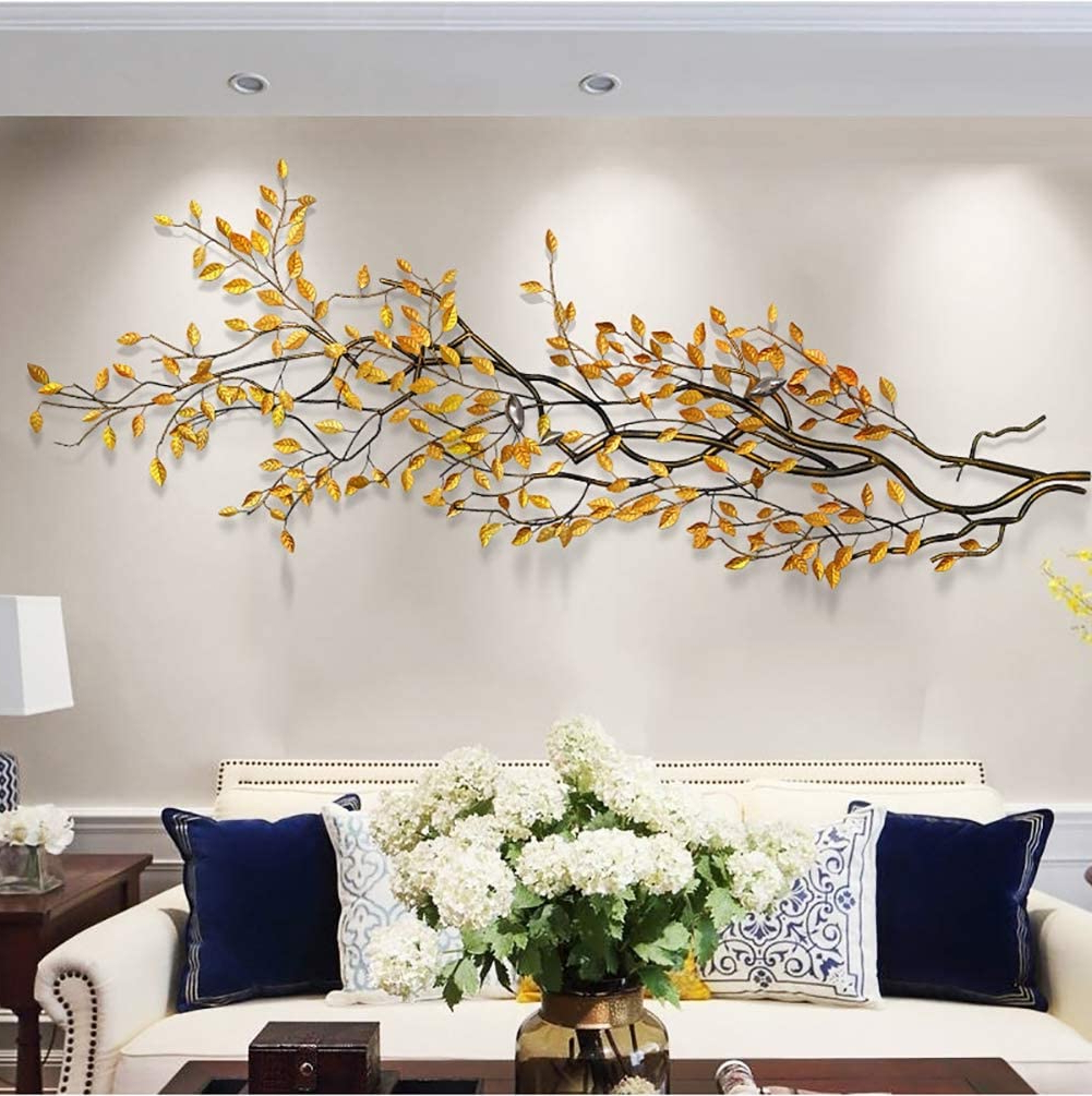 Amazon: Three Dimensional Wealth Tree Metal Wall Decor With Newest Graceful Over The Door Wall Décor (View 6 of 20)