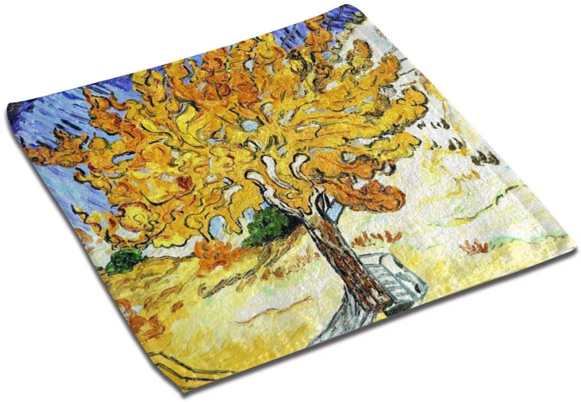 Amazon: Washcloths Mulberry Tree Van Gogh Square Hand Inside Well Liked Blended Fabric The Mulberry Tree – Van Gogh Wall Hangings (View 16 of 20)