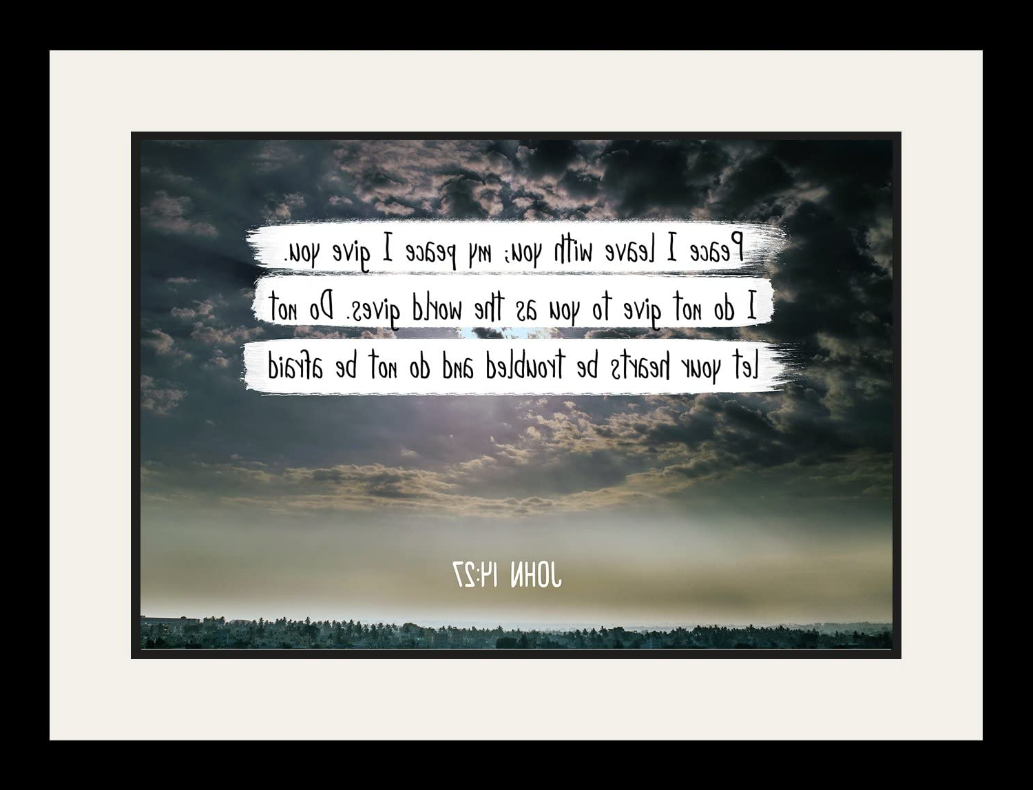 Amazon: Wesellphotos Bible Verse Wall Art Peace I Leave In Well Known Peace I Leave With You Wall Hangings (View 9 of 20)