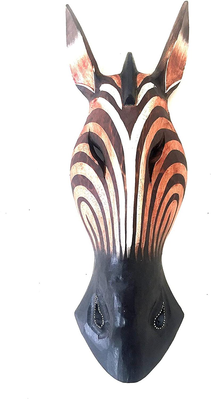 Animal Mask Of The Savannah Zebra Wall Décor Pertaining To Preferred Oma Giraffe African Mask Wall Decor Hanging Zebra Tribal Tiki African Safari Jungle Décor (View 13 of 20)