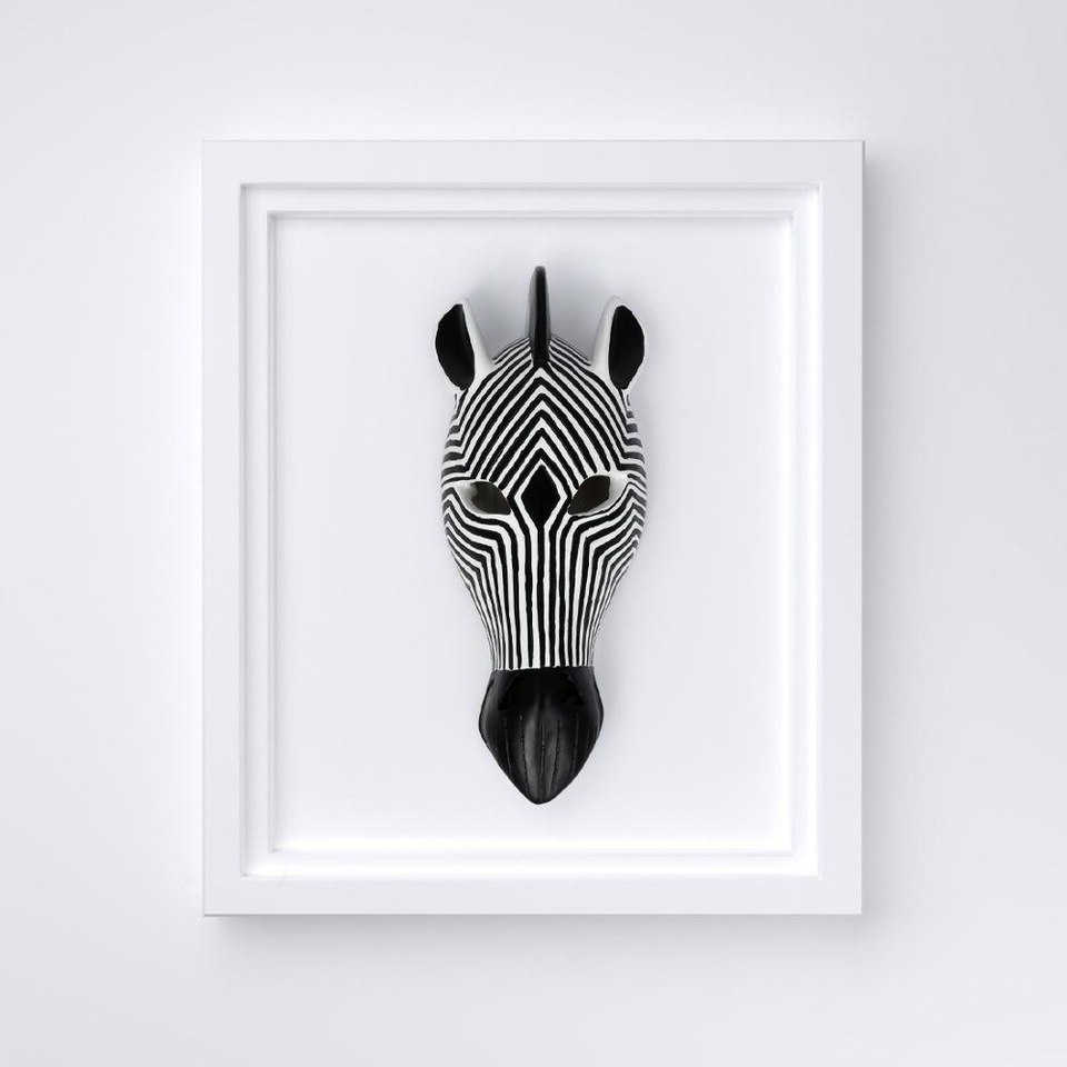 Animal Mask Of The Savannah Zebra Wall Décor With Newest African Tribal Zebra Head Mask Savannah Wall Plaque Sculpture Wall Hanging Mask Decoration (View 9 of 20)