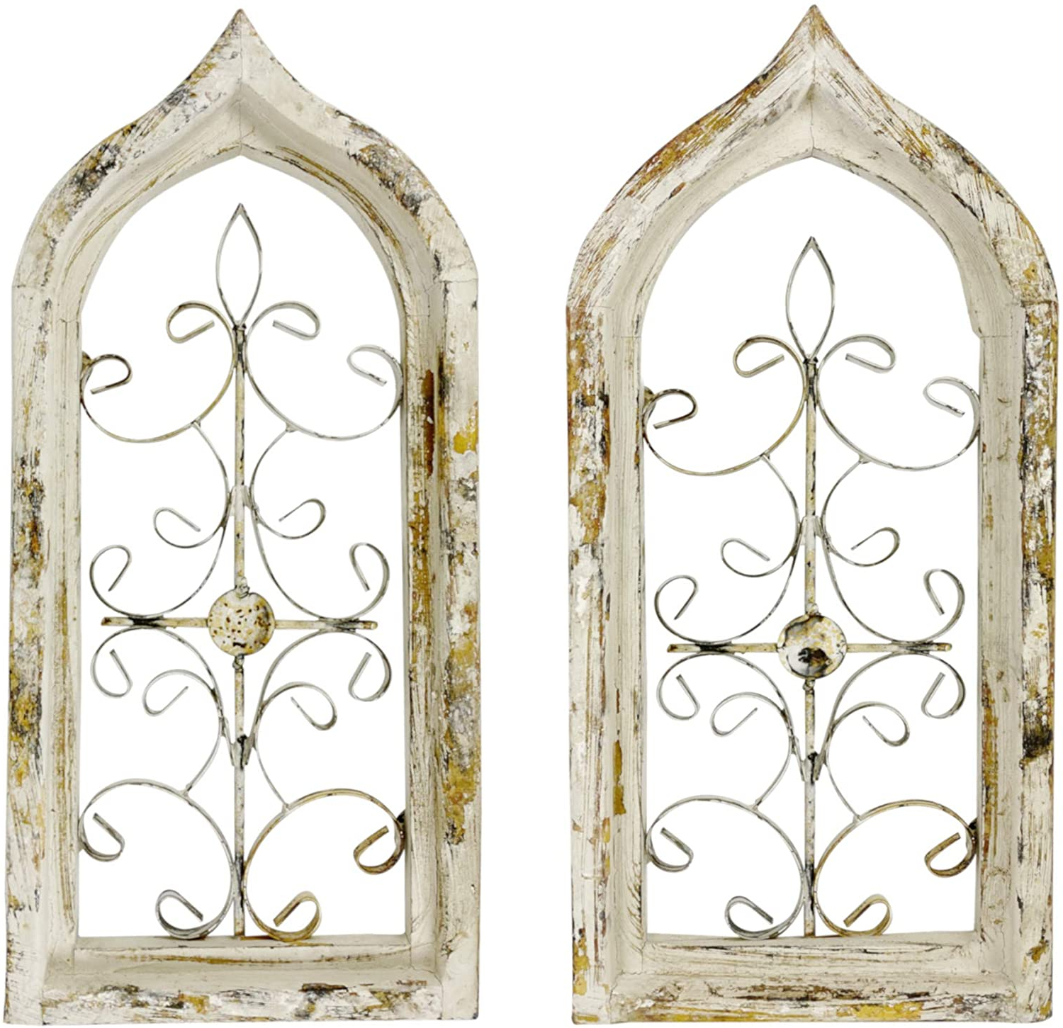 Antique Iron Alloy Wall Décor For Favorite Ak Energy Arched Wrought Black Iron Wall Art Sculpture (View 13 of 20)