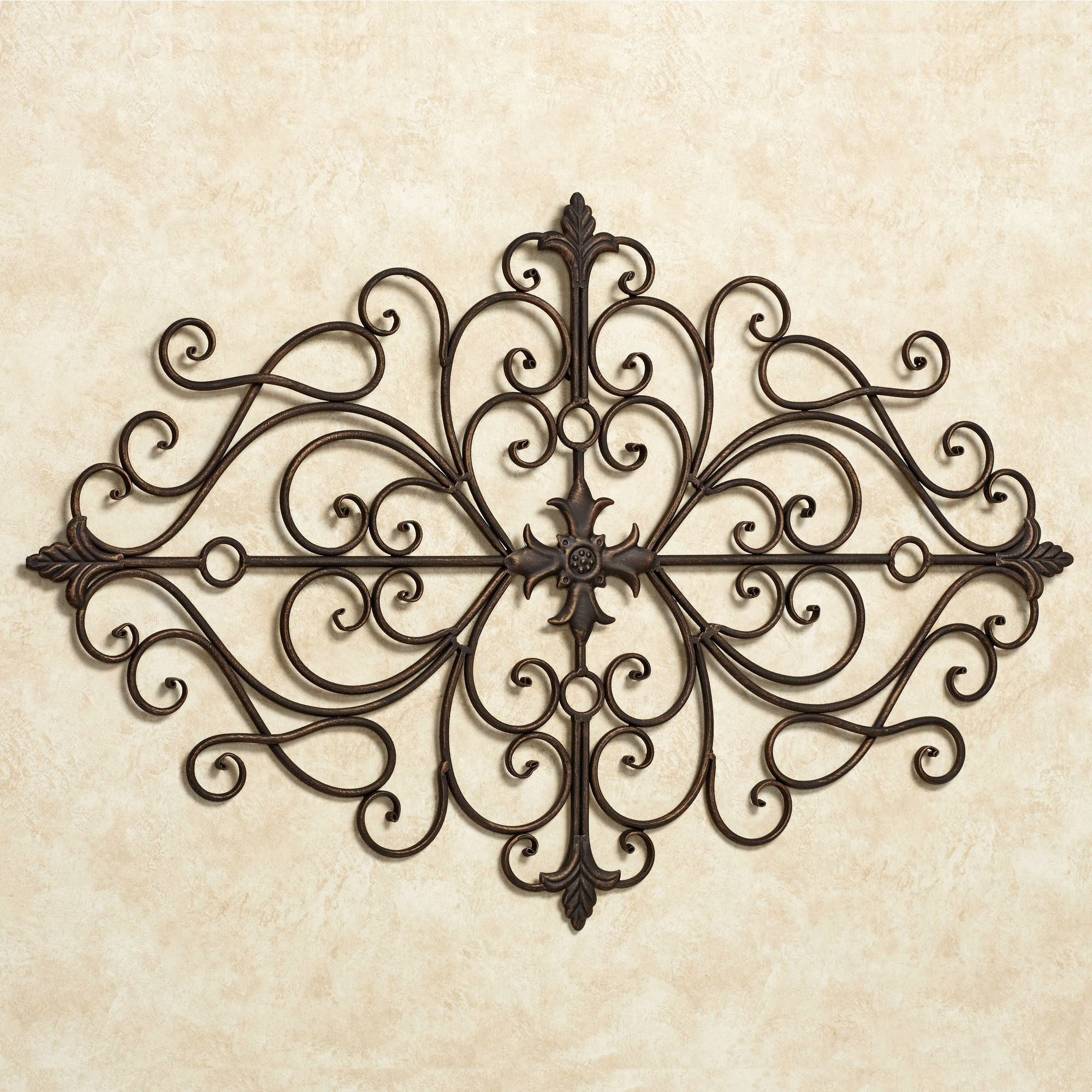Antique Iron Alloy Wall Décor Throughout Most Recent Ansovino Scrolling Antique Bronze Wall Grille (View 17 of 20)