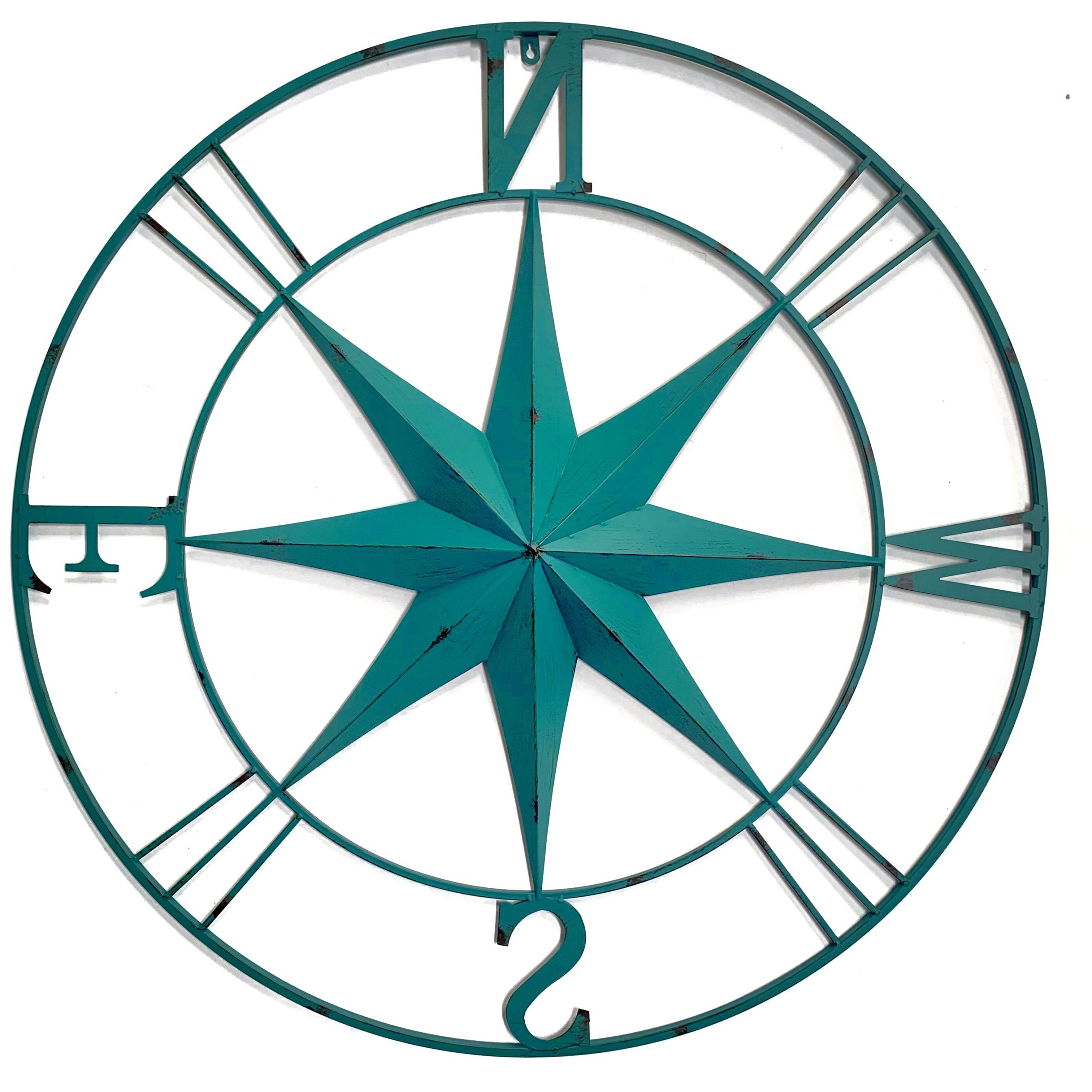 Antique Metal Compass Rose Wall Décor Pertaining To Best And Newest Compass Metal Wall Décor By Beachcrest Home (View 10 of 20)