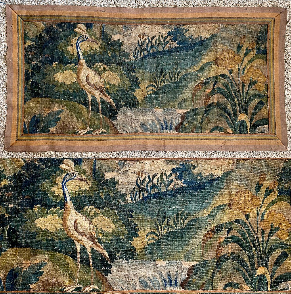 Antique Textiles Throughout Birds Face To Face I European Tapestries (View 10 of 20)
