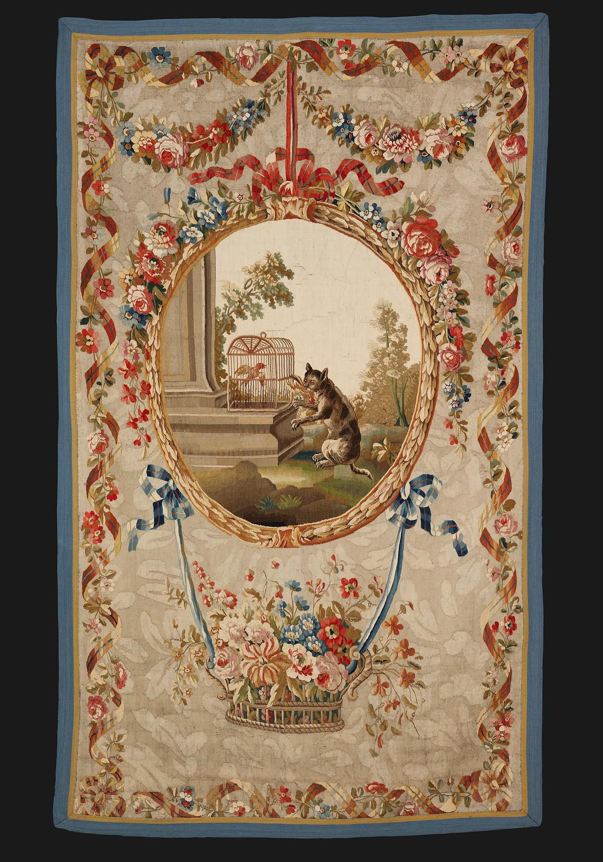 Aubusson Rugs, Tapestry, Rugs On Carpet Intended For Fashionable Blended Fabric Classic French Rococo Woven Tapestries (View 18 of 20)