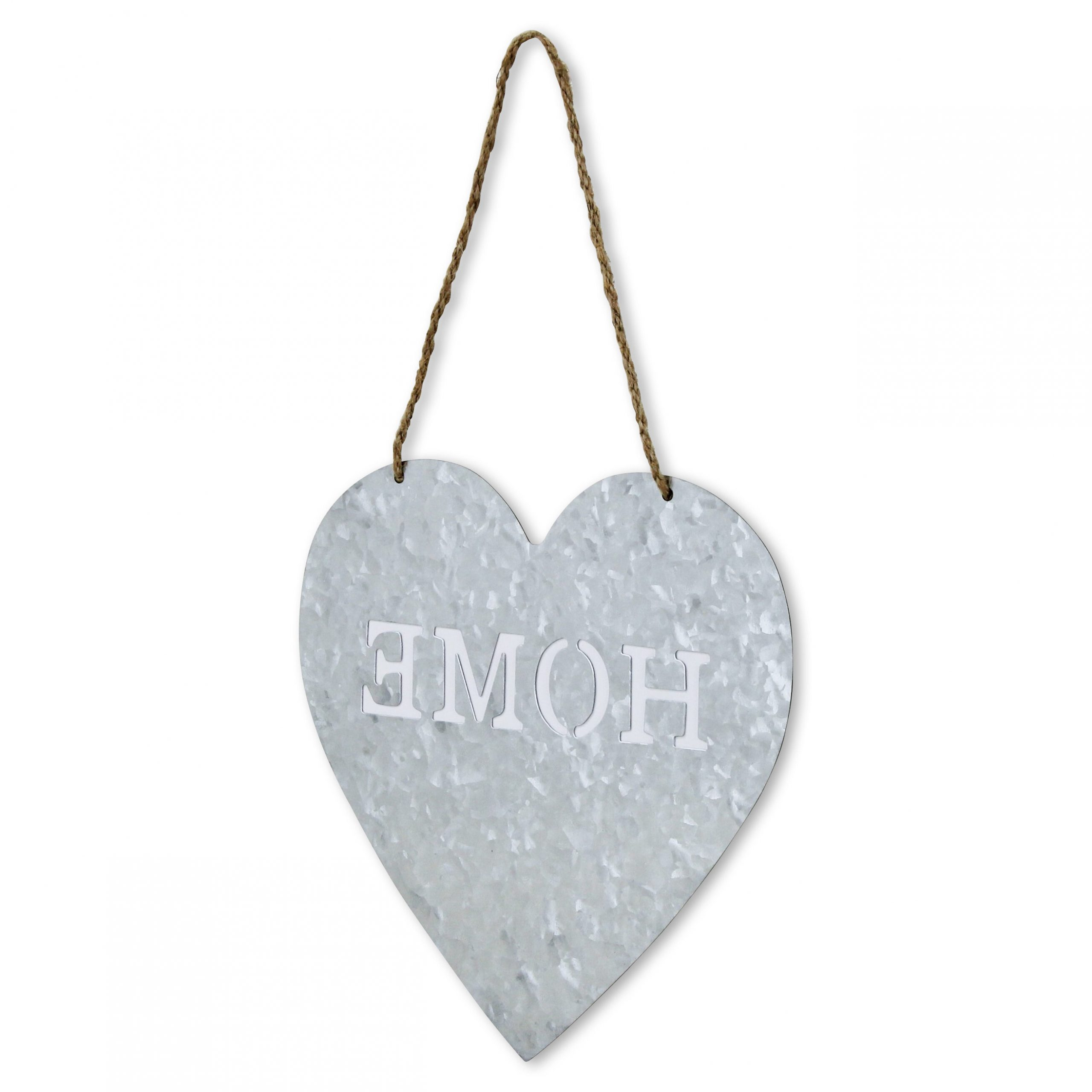 """Featured Photo of Heart Shaped """"Home"""" Sign Wall Décor"""
