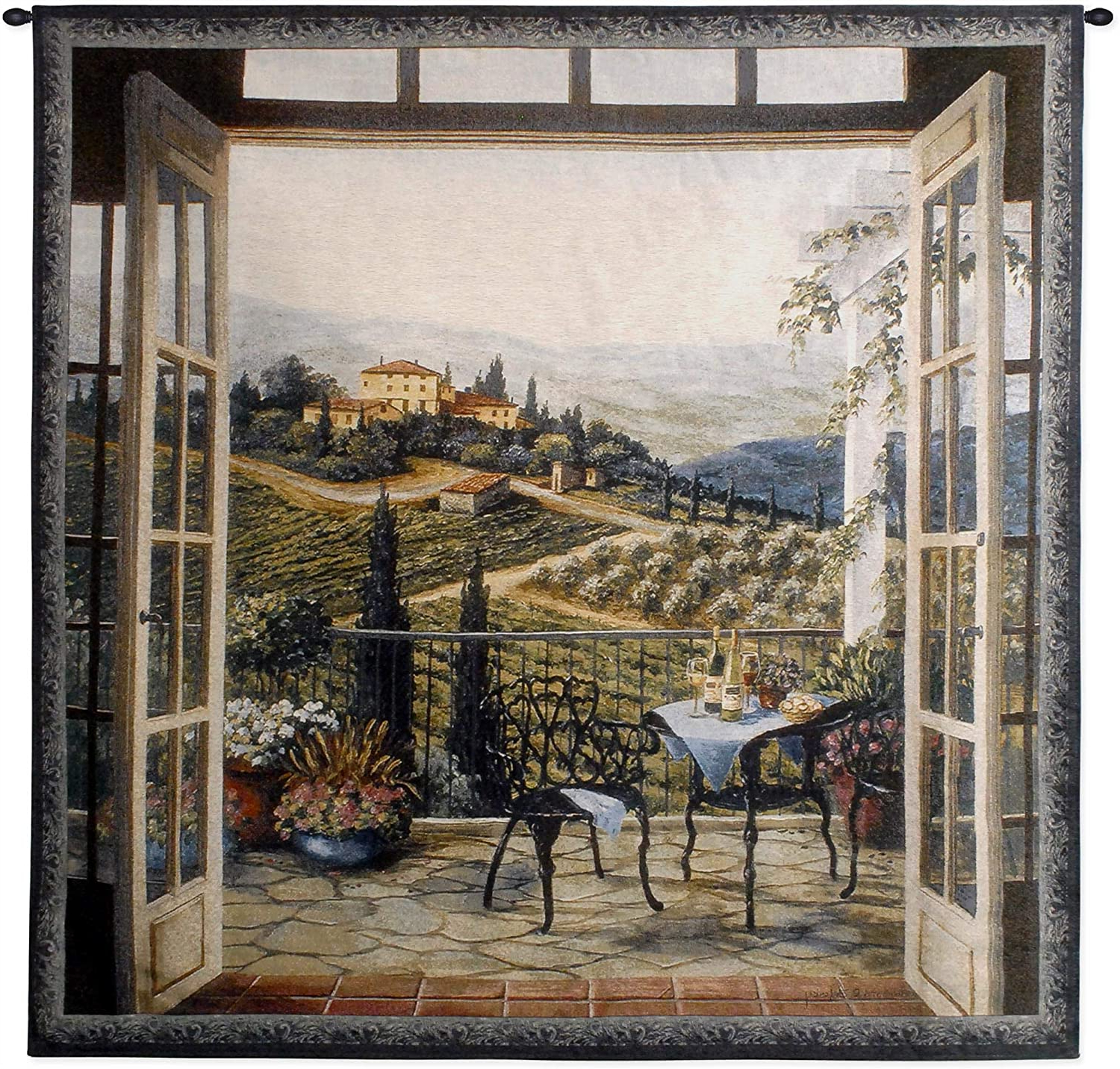 [%balcony View Of The Villabarbara Felisky | Woven Tapestry Wall Art Hanging | Peaceful Countryside Lanscape | 100% Cotton Usa Size 53x53 Regarding Widely Used Blended Fabric Italian Wall Hangings|blended Fabric Italian Wall Hangings Regarding 2019 Balcony View Of The Villabarbara Felisky | Woven Tapestry Wall Art Hanging | Peaceful Countryside Lanscape | 100% Cotton Usa Size 53x53|most Popular Blended Fabric Italian Wall Hangings Throughout Balcony View Of The Villabarbara Felisky | Woven Tapestry Wall Art Hanging | Peaceful Countryside Lanscape | 100% Cotton Usa Size 53x53|newest Balcony View Of The Villabarbara Felisky | Woven Tapestry Wall Art Hanging | Peaceful Countryside Lanscape | 100% Cotton Usa Size 53x53 With Blended Fabric Italian Wall Hangings%] (View 3 of 20)