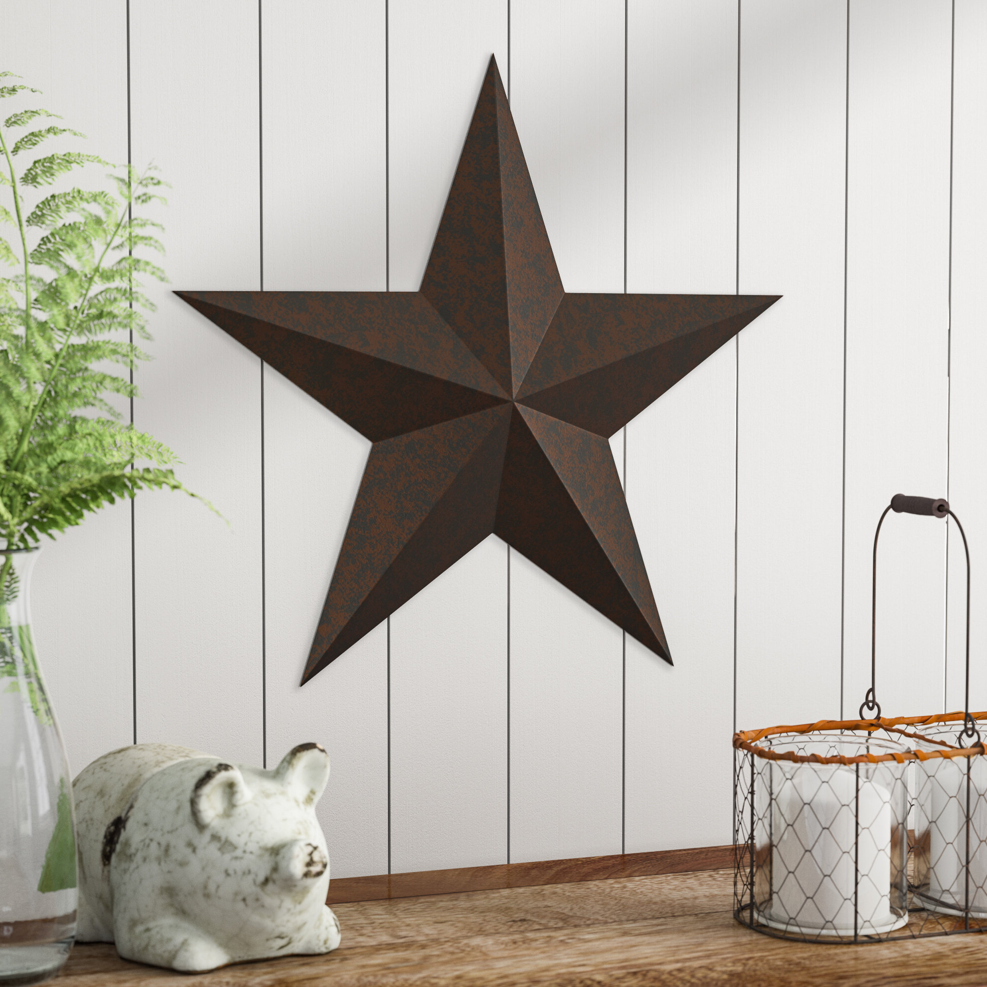 Barn Star Wall Décor (set Of 2) Throughout Fashionable Barn Star Wall Décor (View 2 of 20)