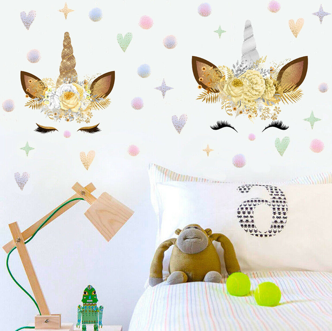 Barn Star Wall Décor (set Of 2) With Regard To 2019 Set Of 2 Colorful Stars Dots Unicorn Wall Decal Vinyl Sticker Kids Nursery  Decor (View 17 of 20)