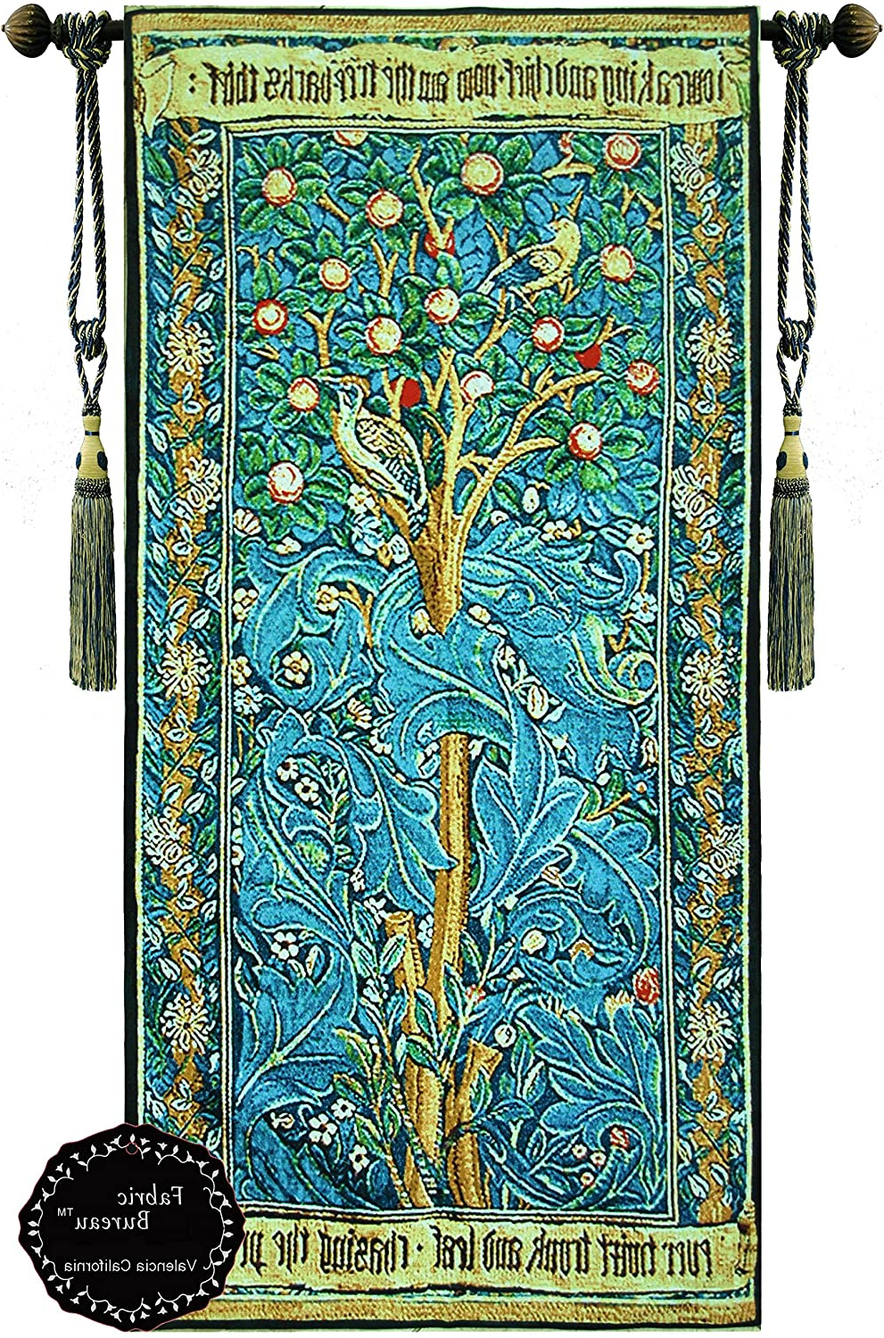 Beautifulthe Woodpeckerwilliam Morris Fine Tapestry Jacquard Woven Wall Hanging Art Decor (yw69) Regarding Favorite Blended Fabric Tree Of Life, William Morris Wall Hangings (View 16 of 20)