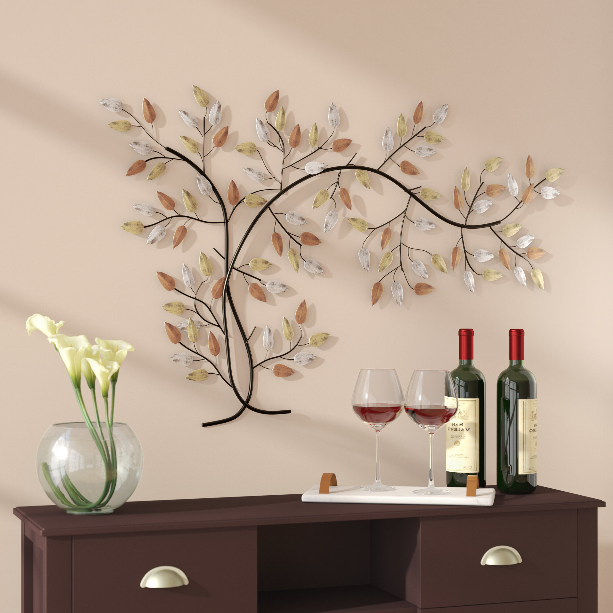Believe Metal Wall Décor By Red Barrel Studio For Most Popular Tree Branch Wall Décor (View 6 of 20)