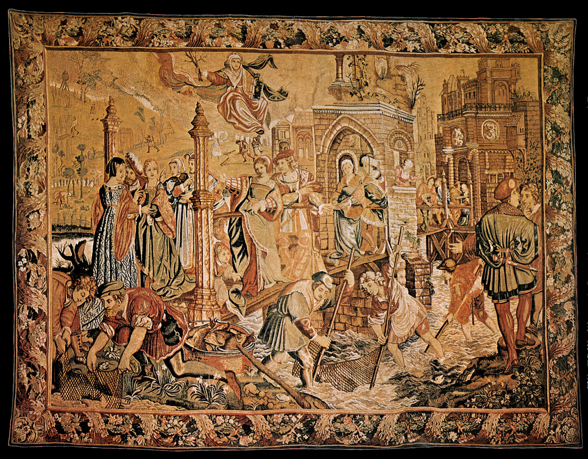 Best And Newest Blended Fabric Tapestry With Blended Fabric Ethereal Days Chinoiserie Wall Hangings With Rod (View 7 of 20)