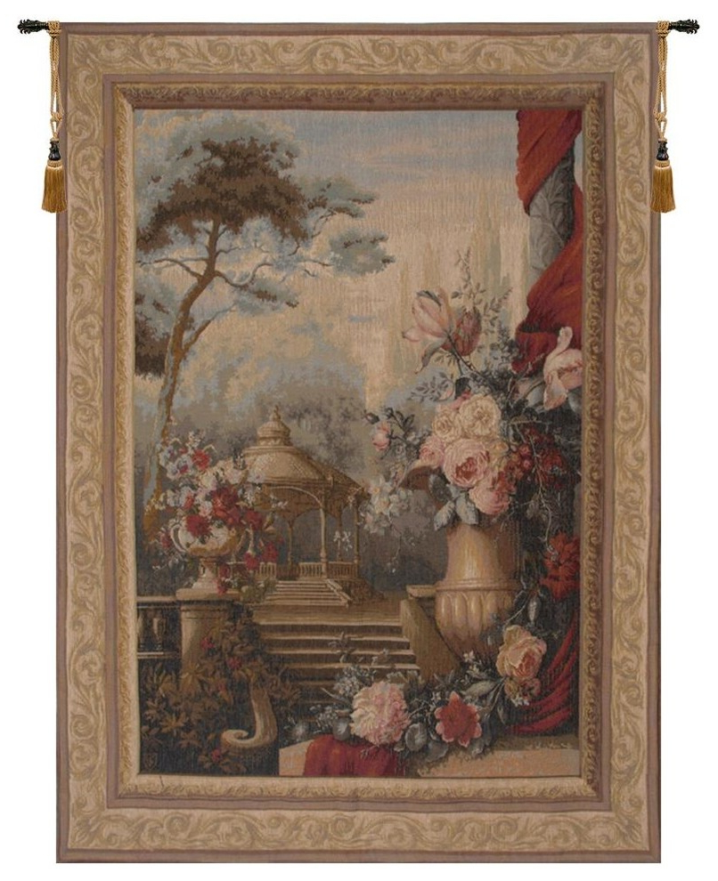 Best And Newest Bouquet Jardin Garden European Tapestry Wall Hanging, A – H 78 X W 58 Intended For Grandes Armoiries I European Tapestries (View 8 of 20)
