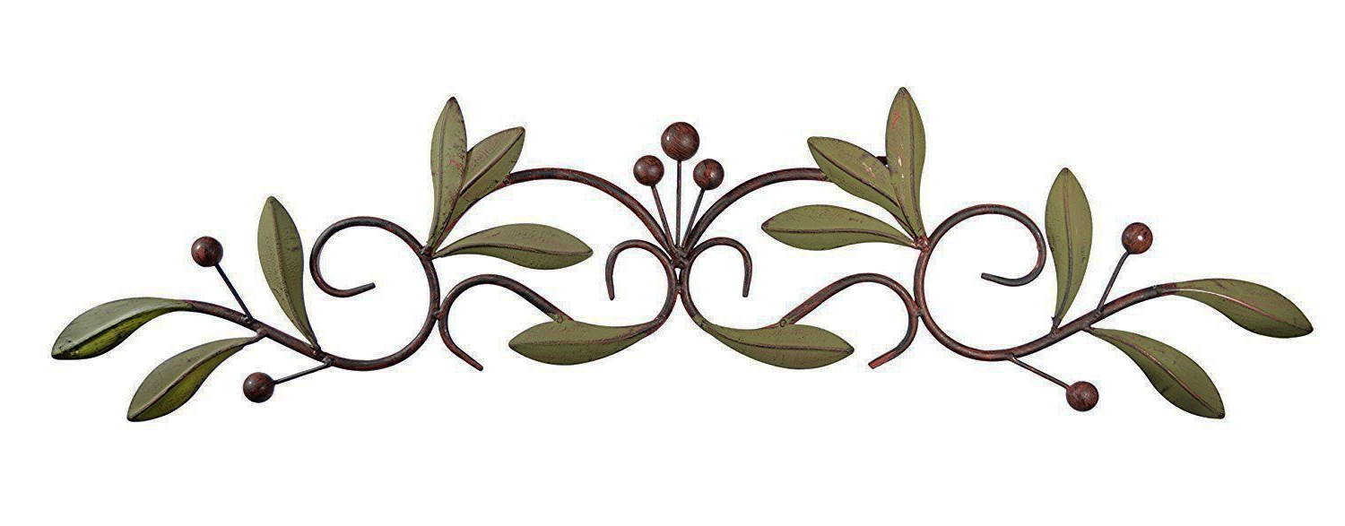Best And Newest Buy 31 Inch Wide Leaf And Berry Metal Wall Decor 31 X 6 Intended For Metal Leaf With Berries Wall Décor (View 6 of 20)