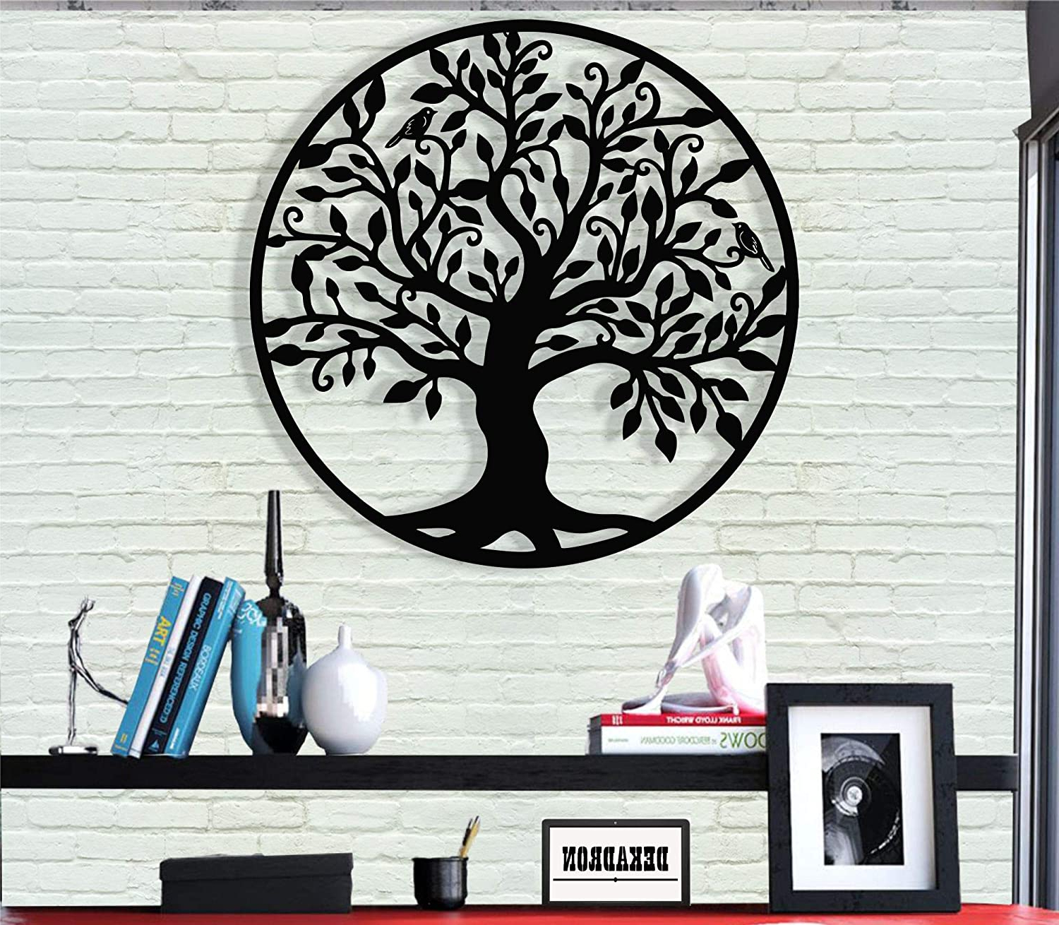 Best And Newest Dekadron Metal Wall Art – Tree Of Life – Family Tree – 3d Wall Silhouette Metal Wall Decor Home Office Decoration Bedroom Living Room Decor Sculpture Pertaining To Family Themed Creative Metal Wall Décor (View 8 of 20)